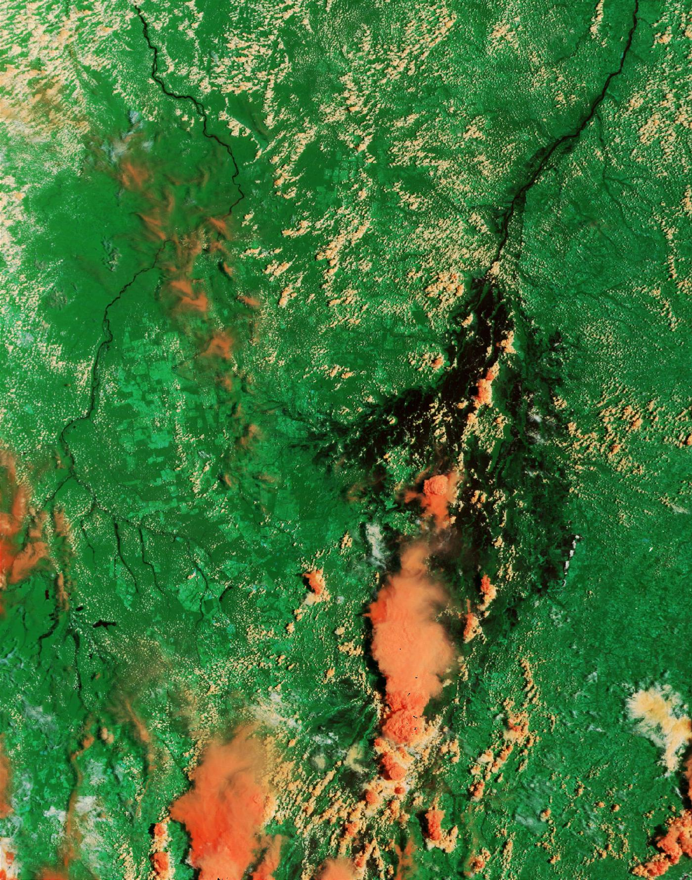 Satellite Image, Photo of the Araguaia River, Brazil