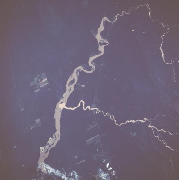Satellite Image, Photo of Rio Grande, Bolivia
