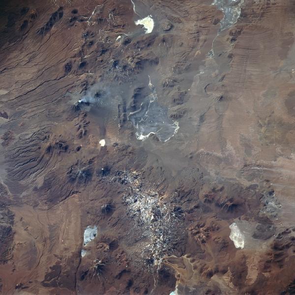 Imagen, Foto Satelite del Volcan Lascar, Chile