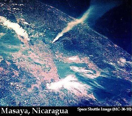 Satellite Image, Photo of Santiago Volcano, Nicaragua