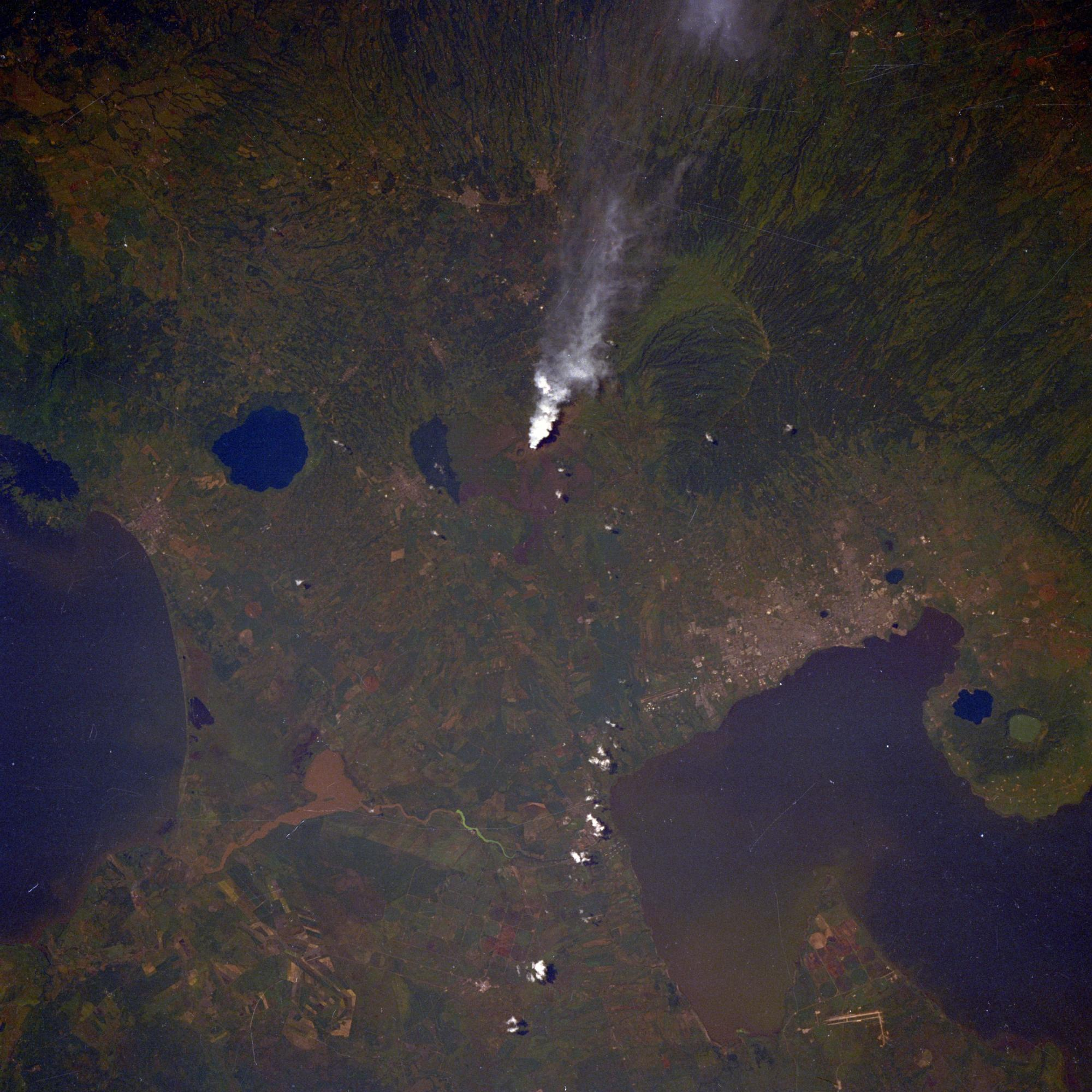 Imagen, Foto Satelite del Volcan de Masaya, Nicaragua