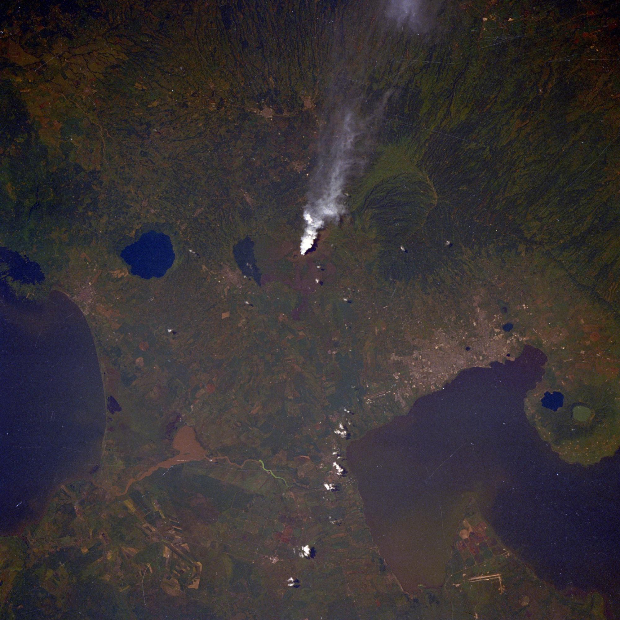 Satellite Image, Photo of Masaya Volcano, Nicaragua