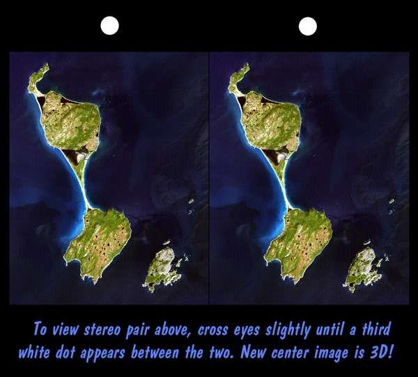 Stereoscopic Satellite Image of Saint-Pierre and Miquelon Islands (France)