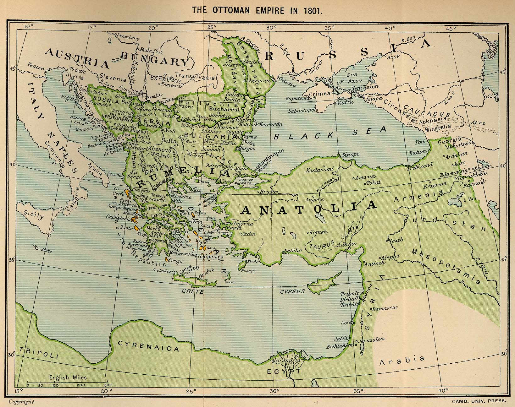 The Ottoman Empire in 1801