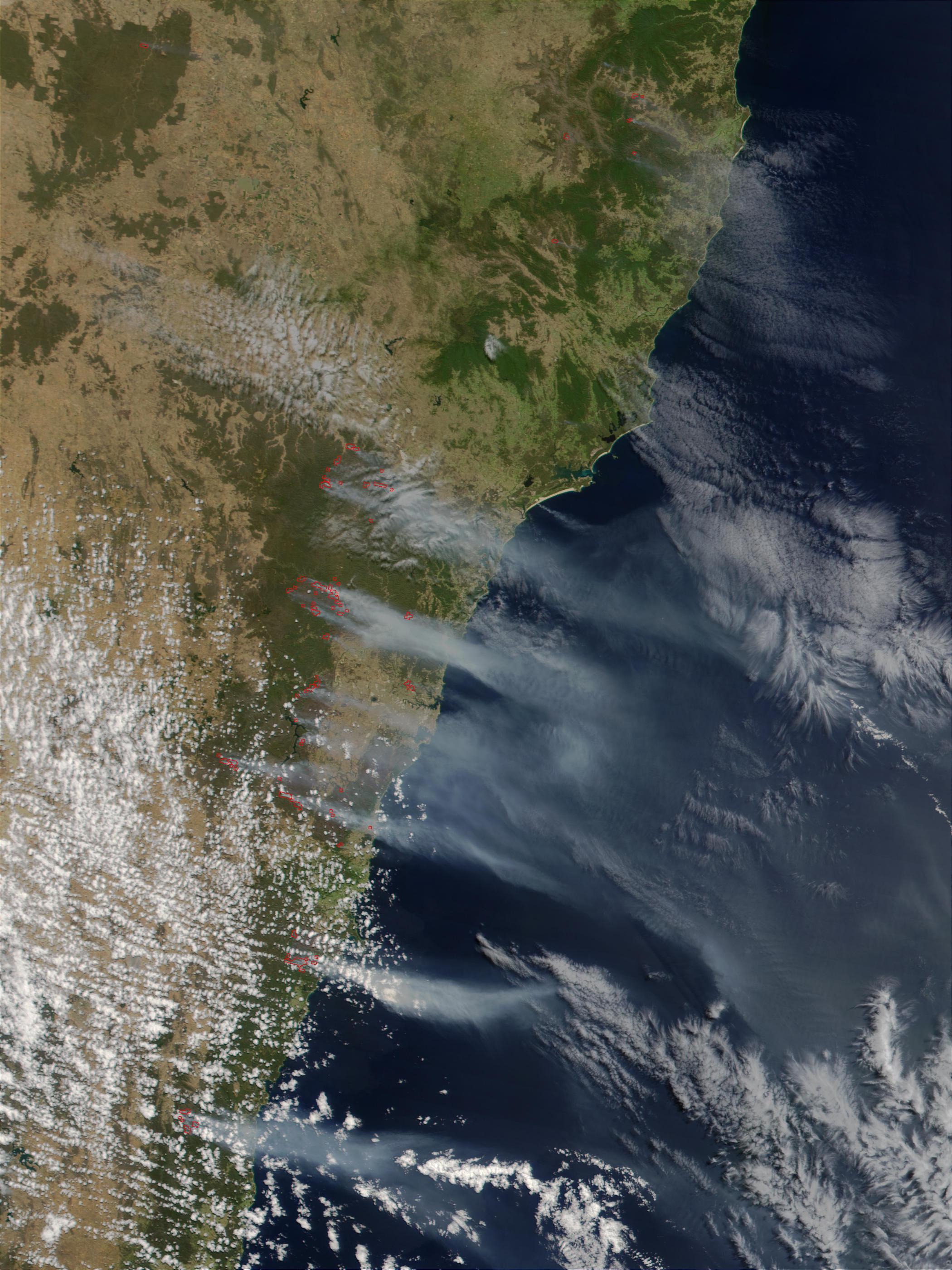 Incendio forestal cerca de Sydney, Australia