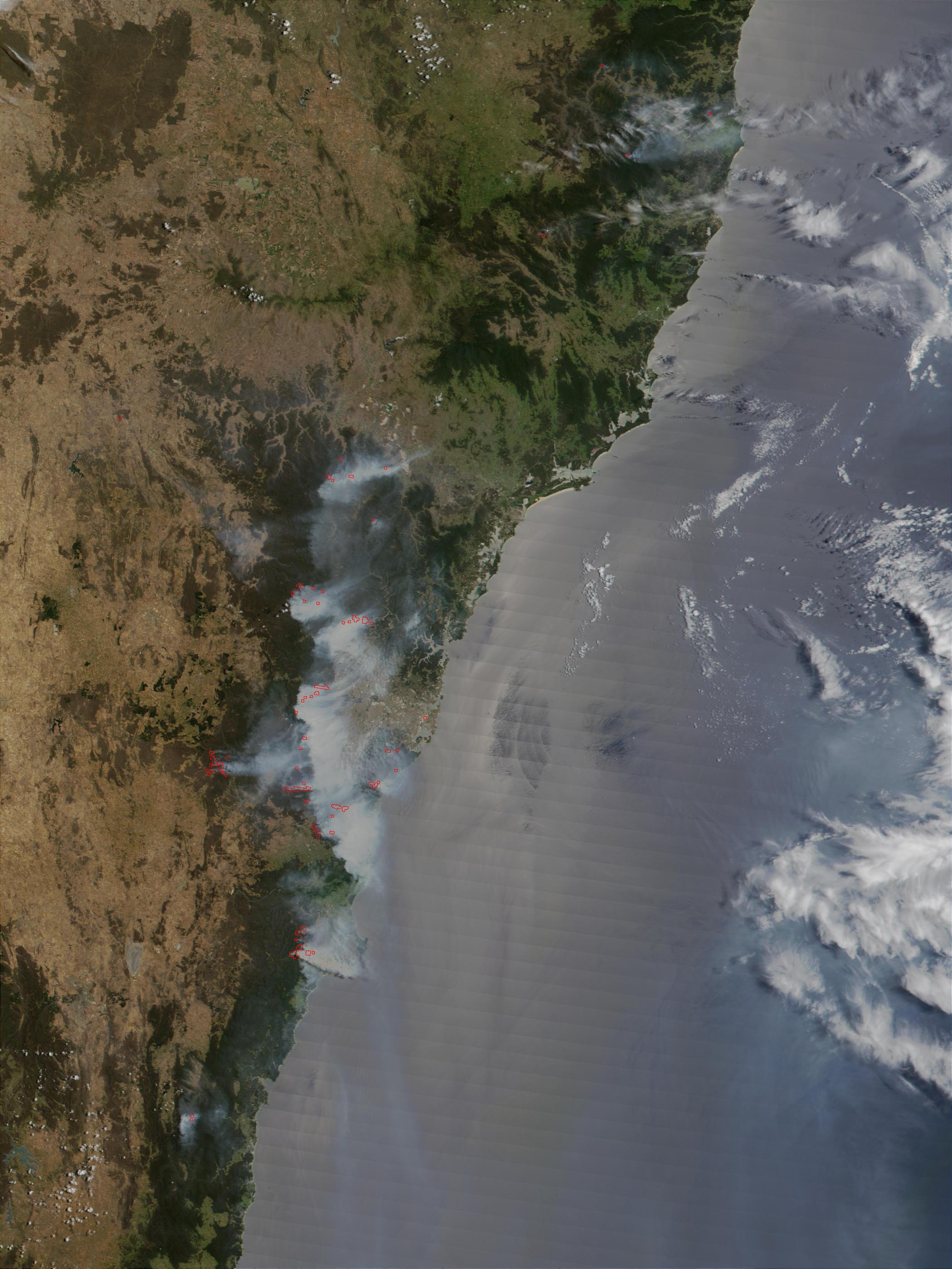 Wildfires near Sydney, Australia
