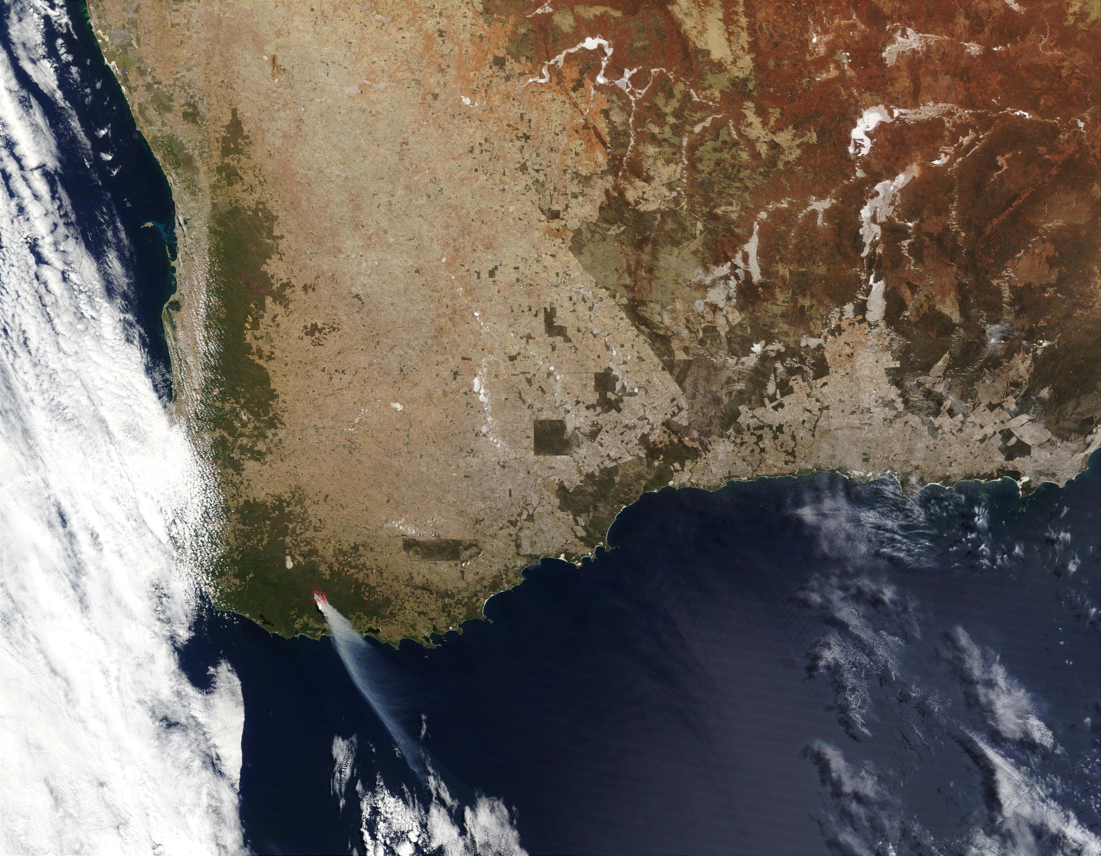 Wildfire in Southwest Australia