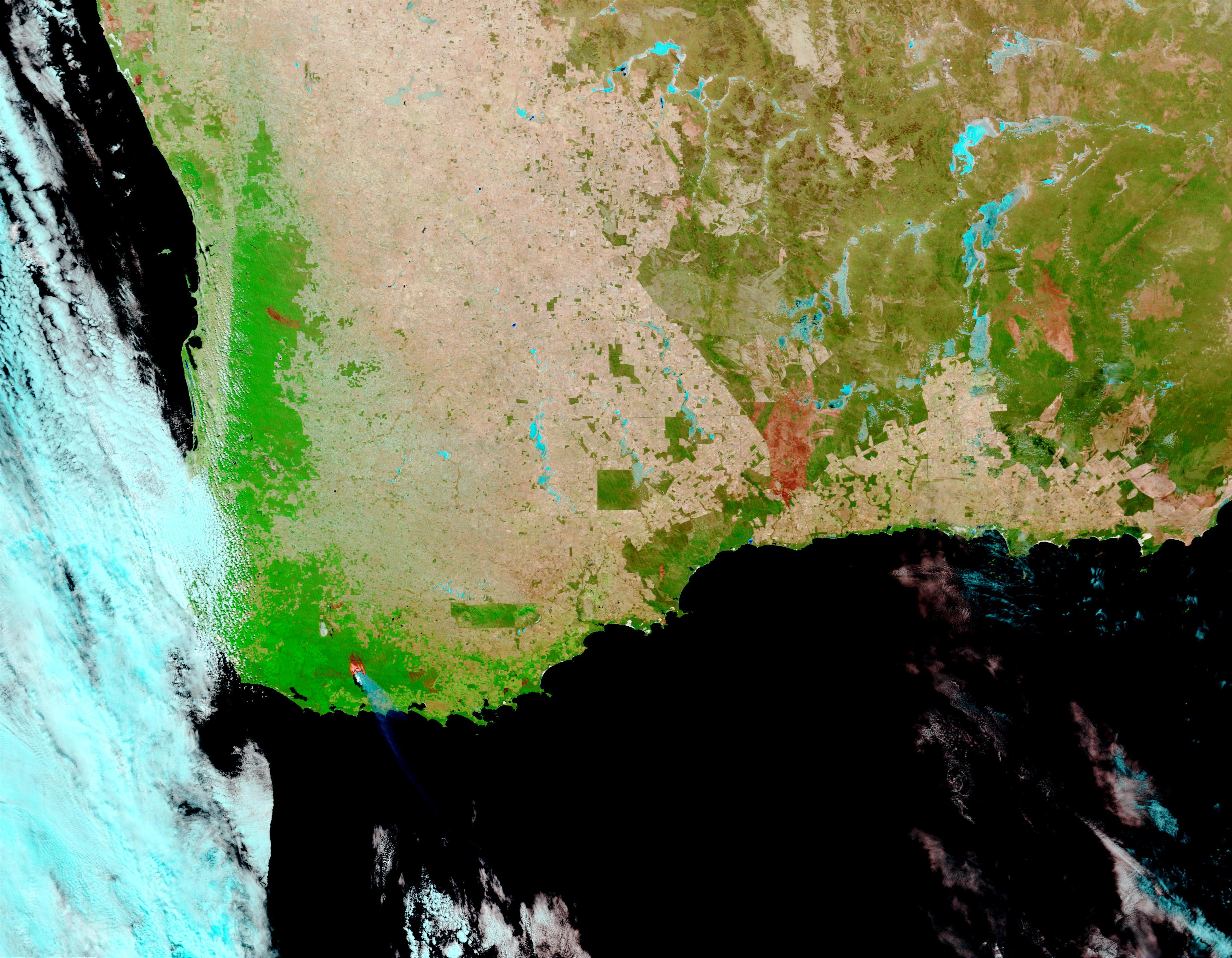 Incendio forestal en Australia suroccidental