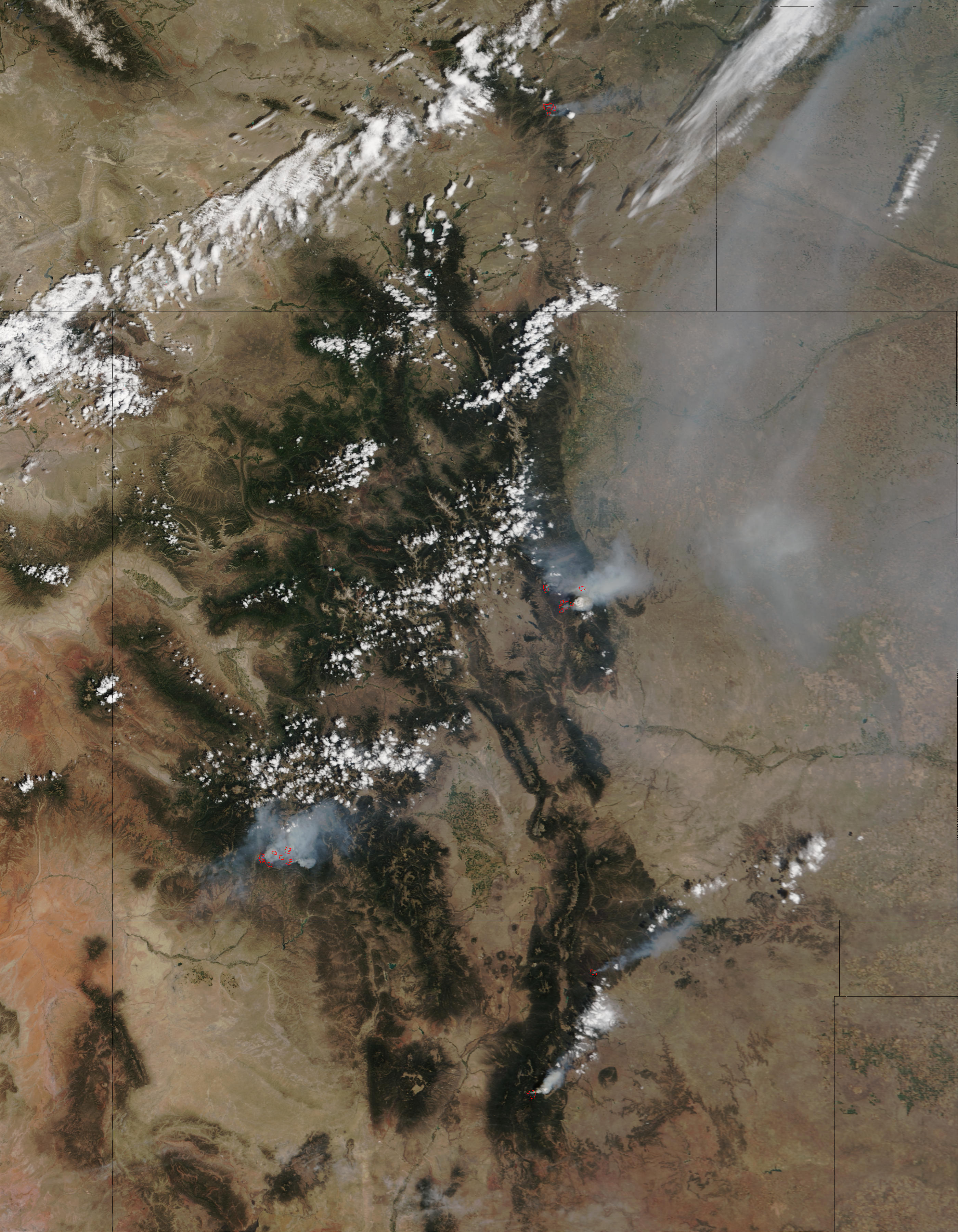 Wildfires in Colorado and New Mexico