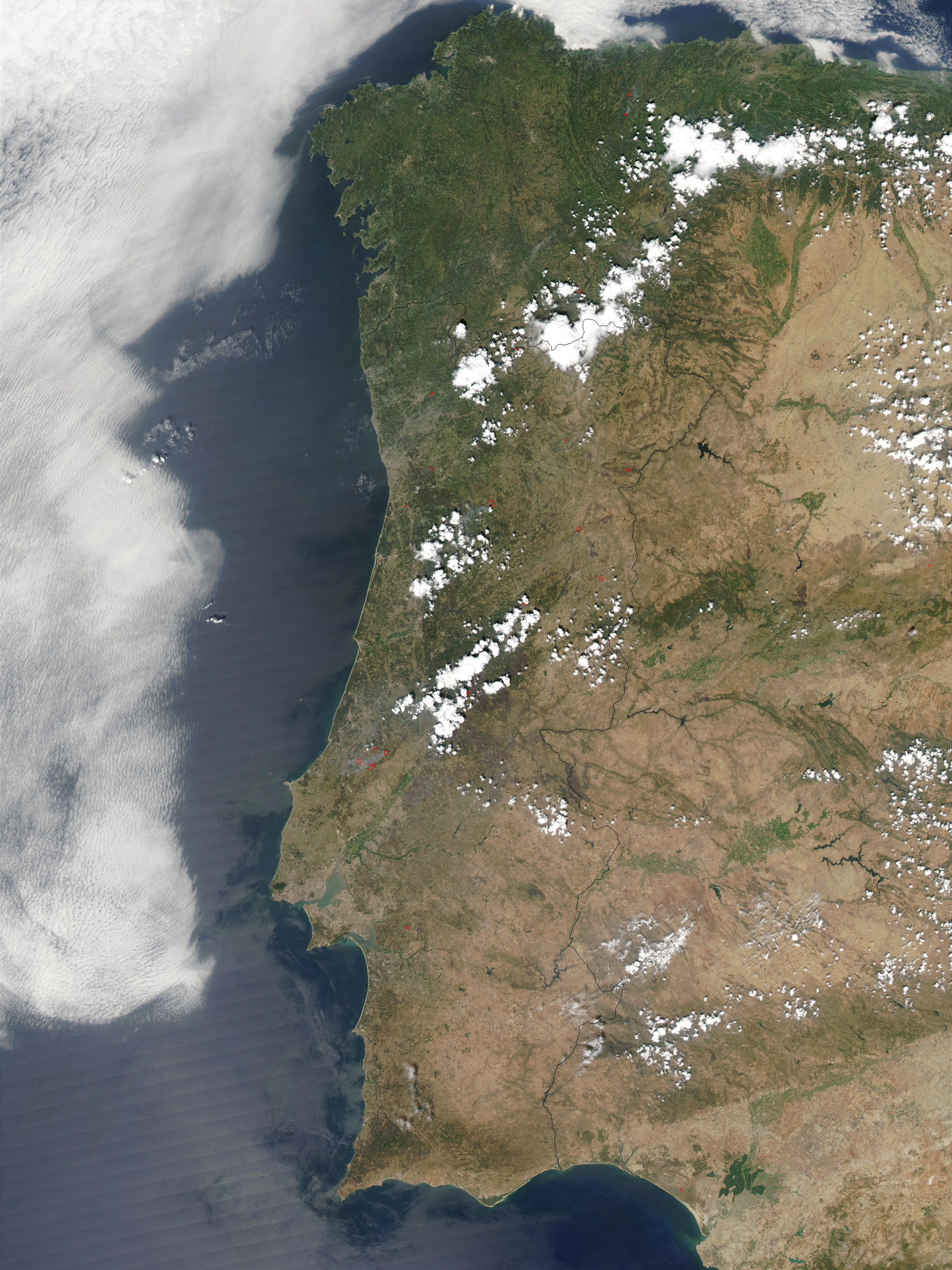 Fires across Portugal