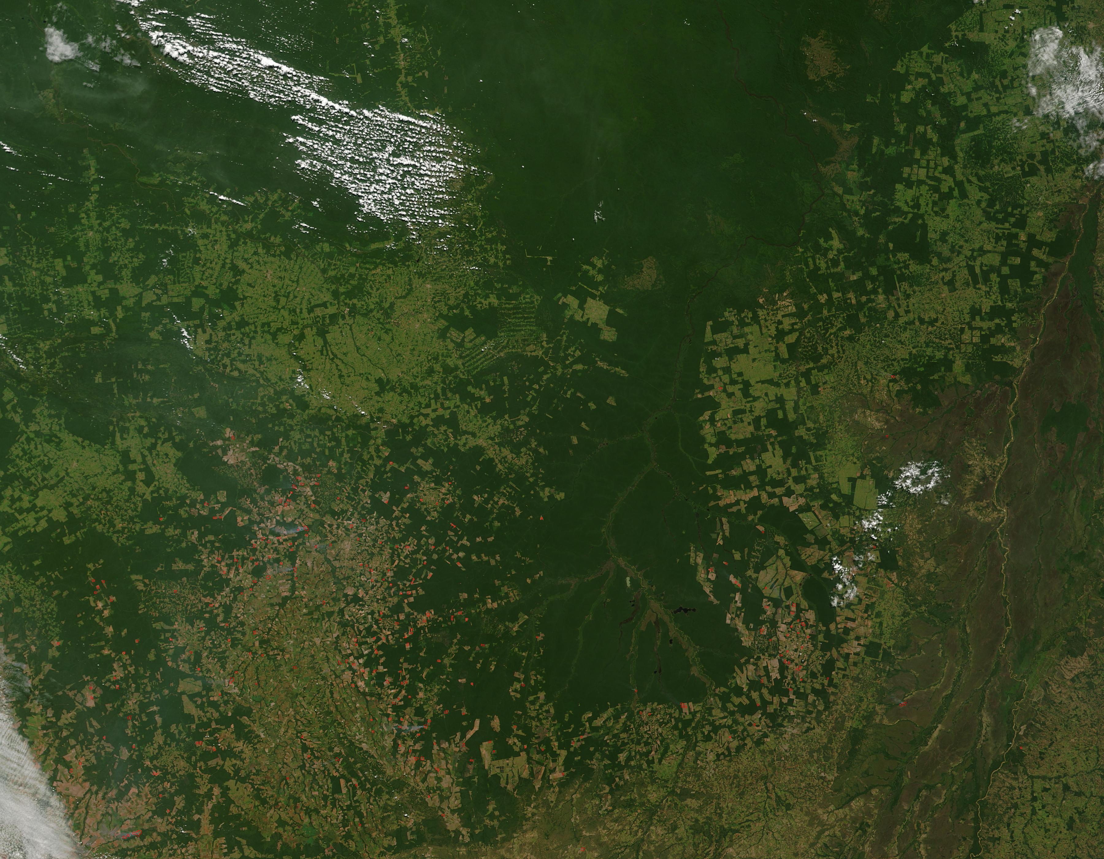 Incendios a través del Mato Grosso, Brasil