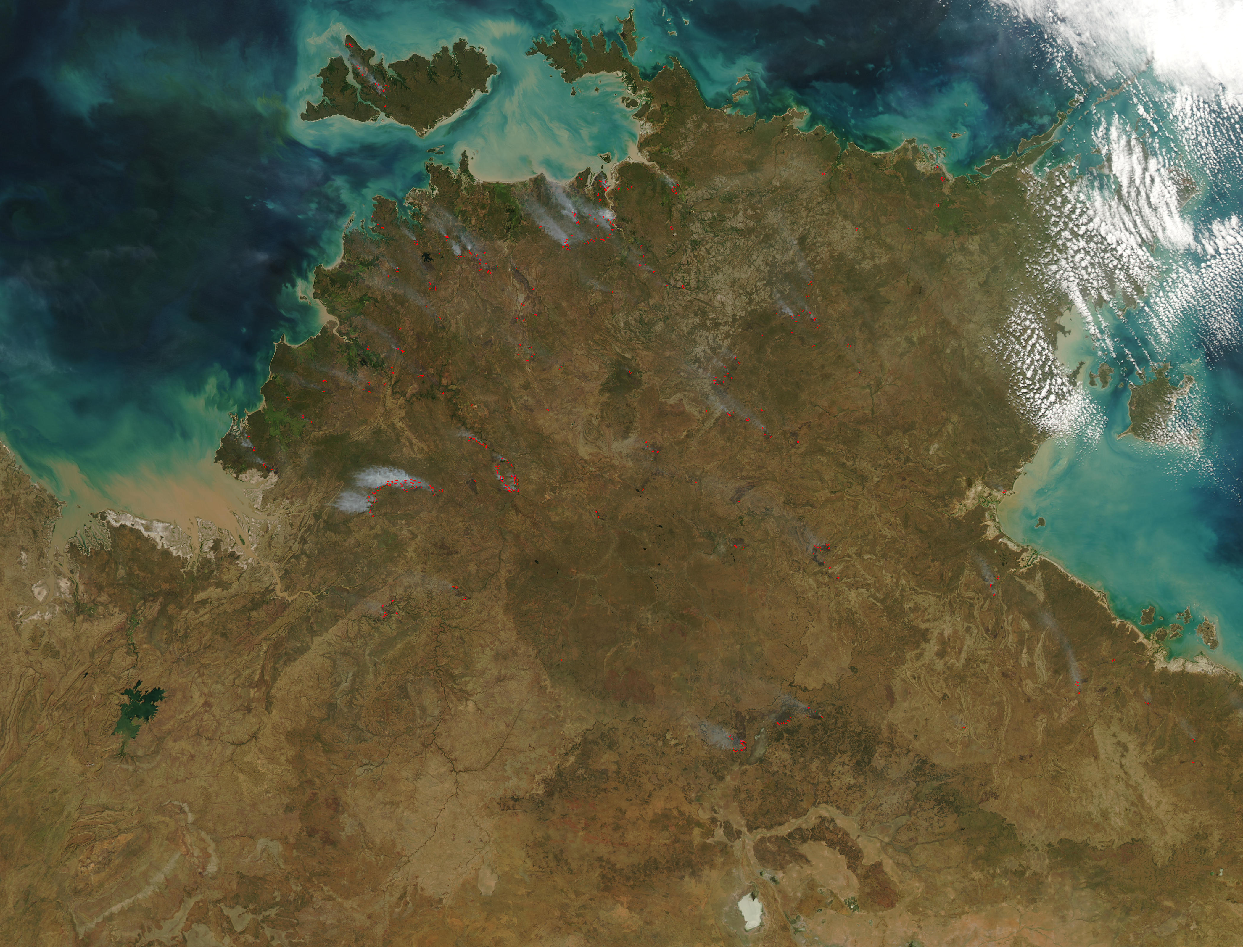 Incendios a través del Norte de Australia
