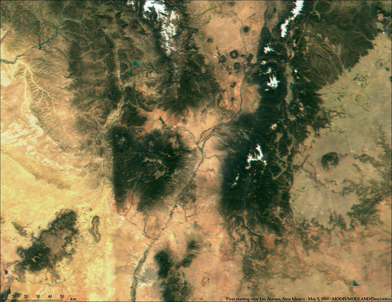 Fires near Los Alamos, New Mexico