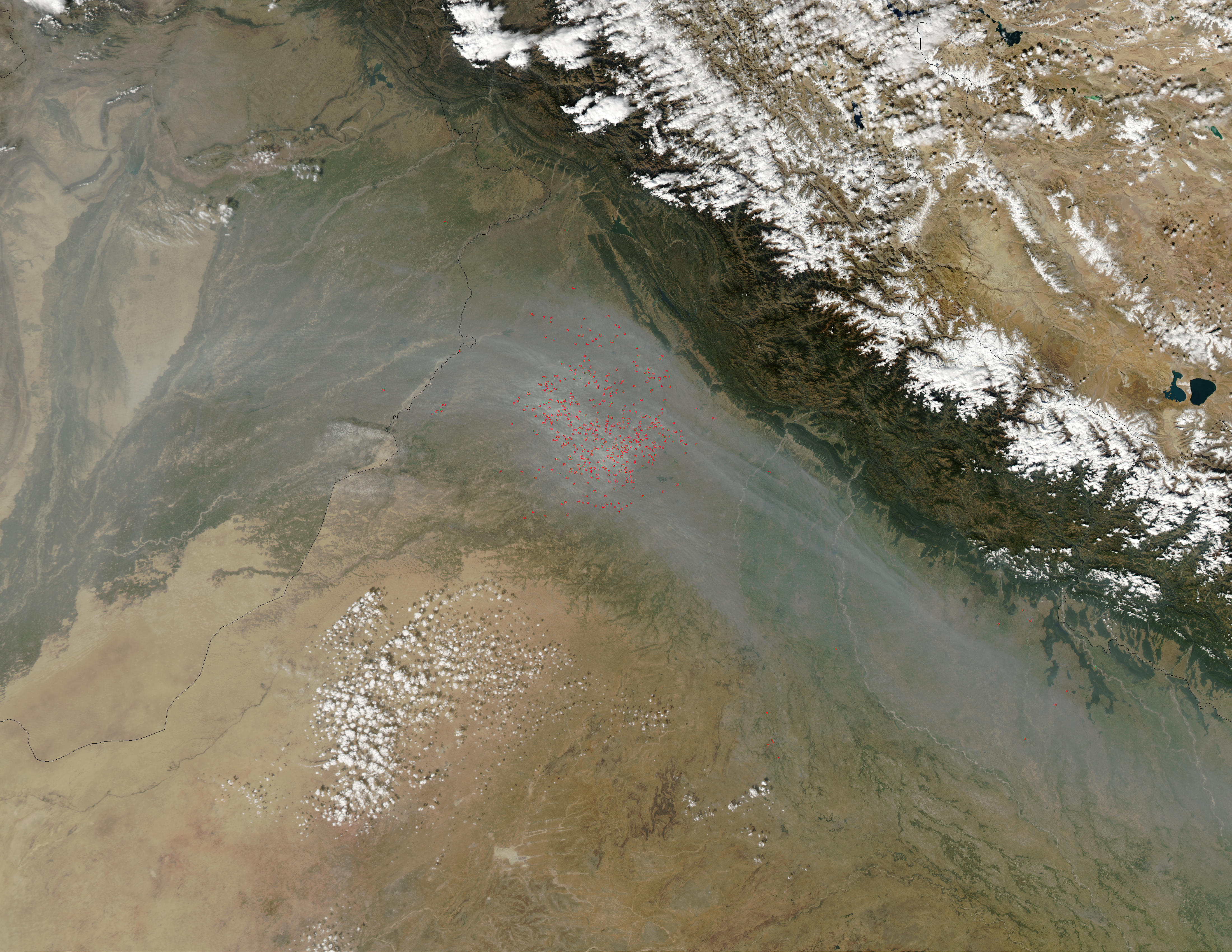 Fires Near Indus River