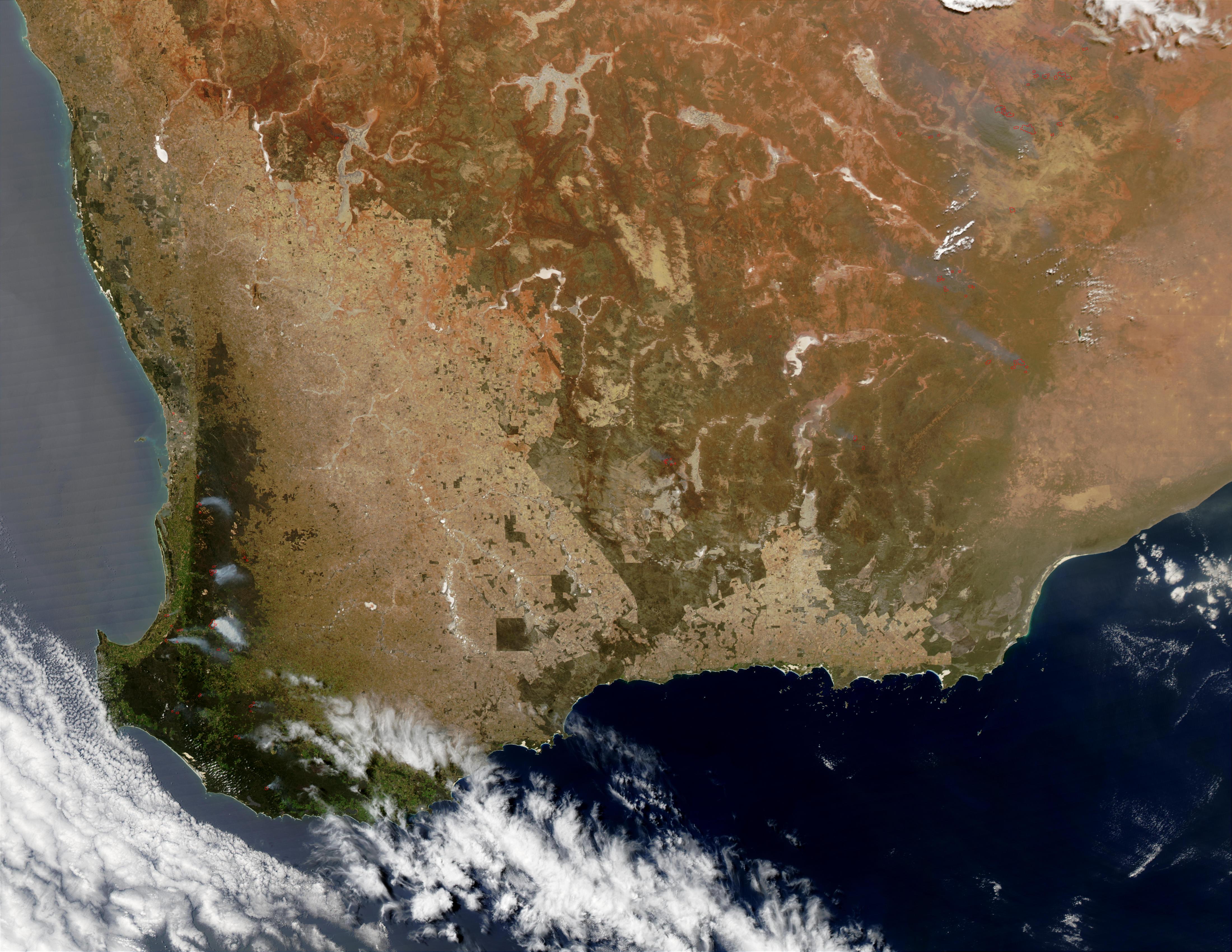 Incendios de primavera en Australia suroccidental