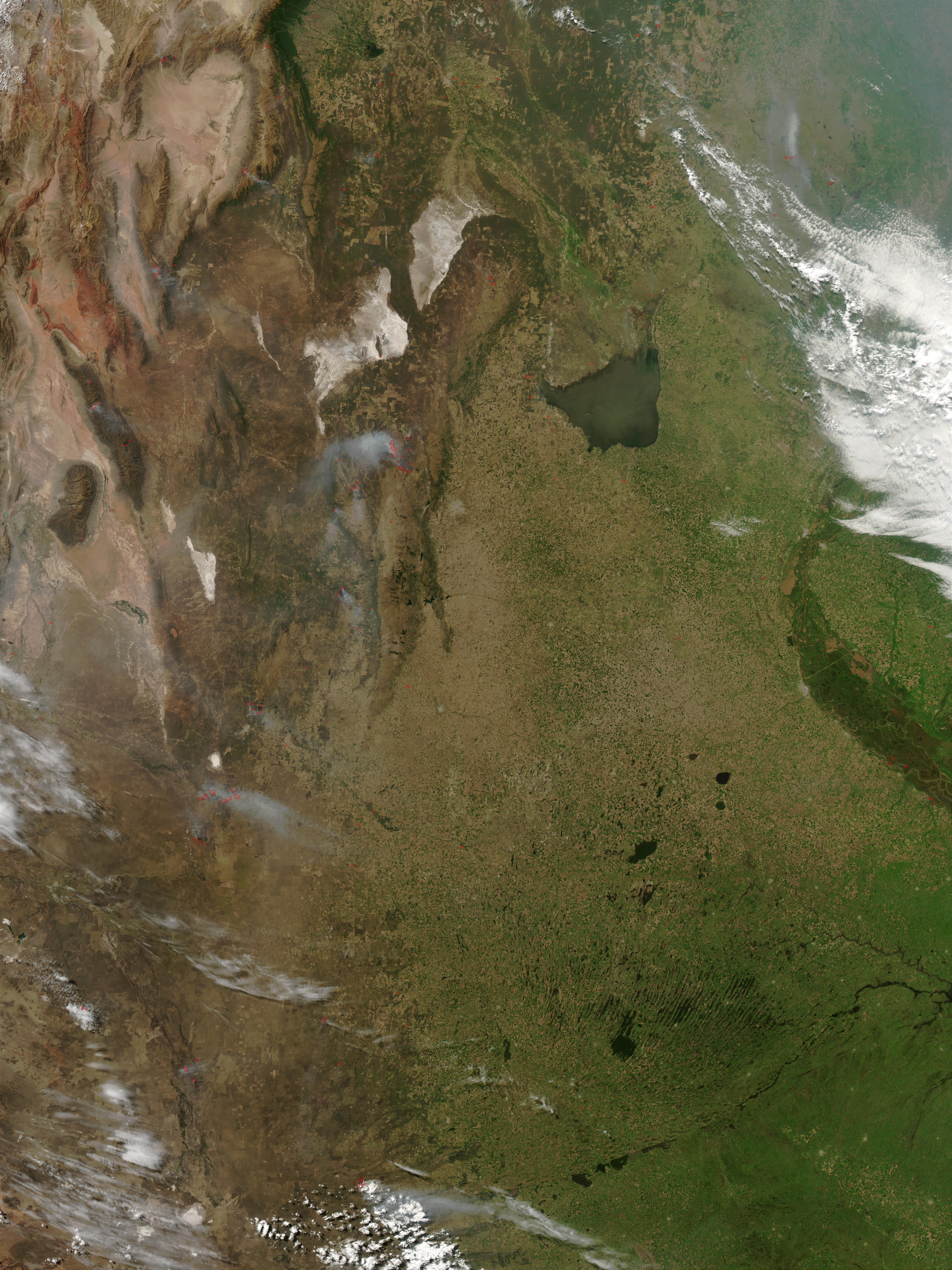 Fires in Central Argentina