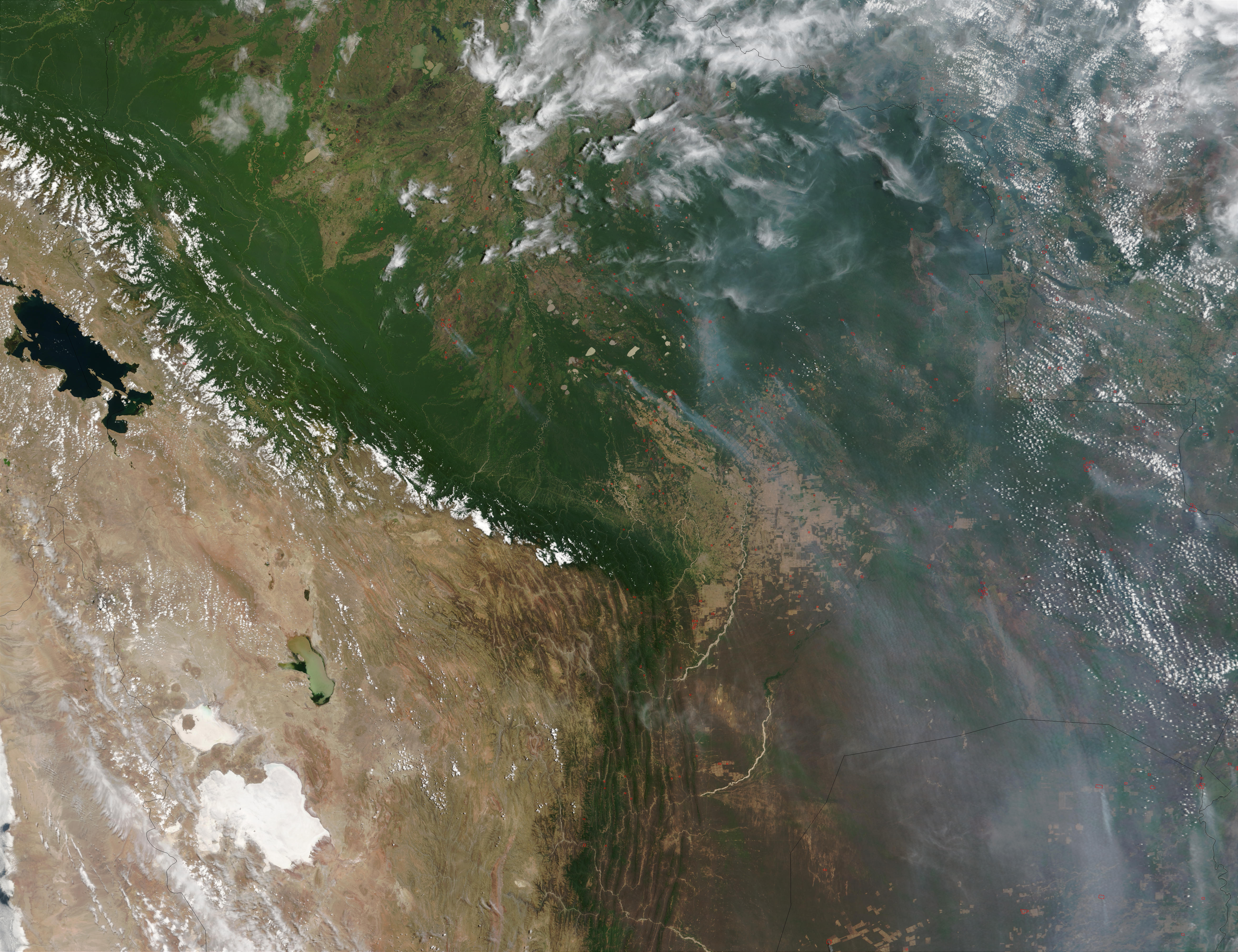 Fires in Bolivia
