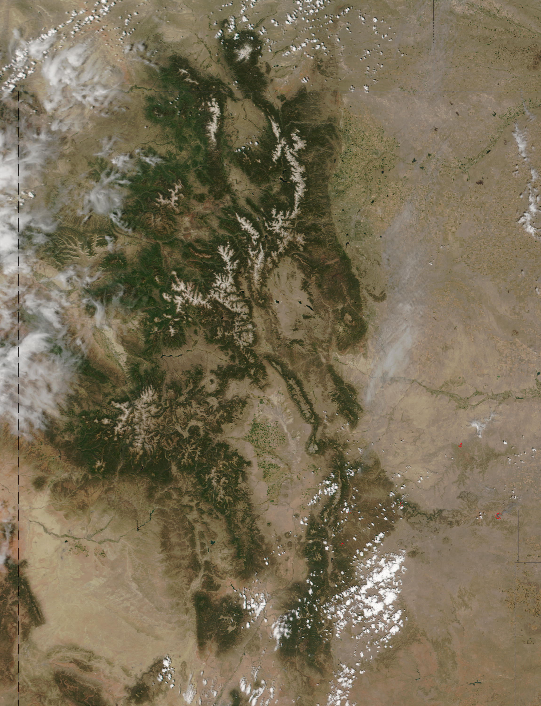 Fires in Colorado and New Mexico