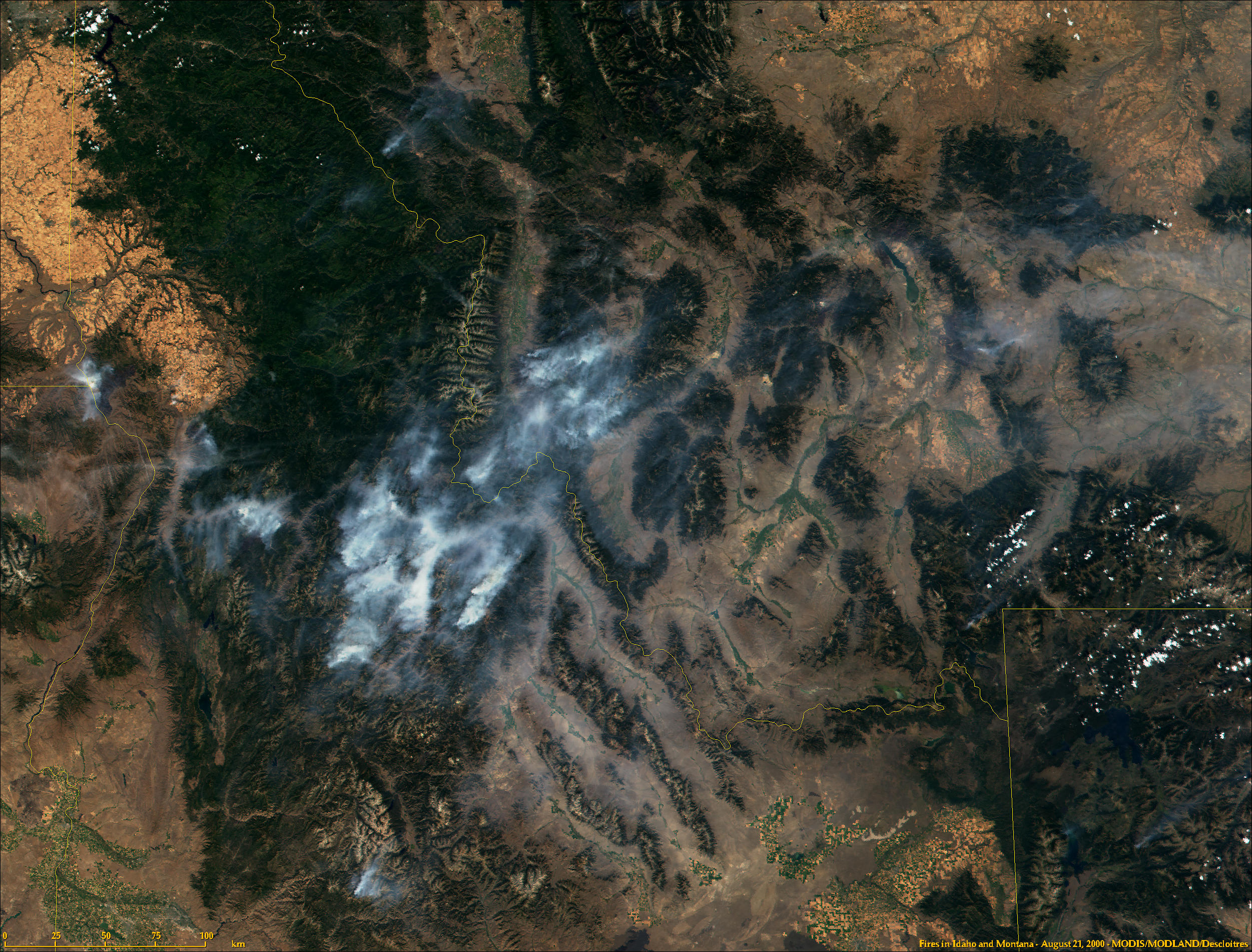 Fires in Idaho and Montana