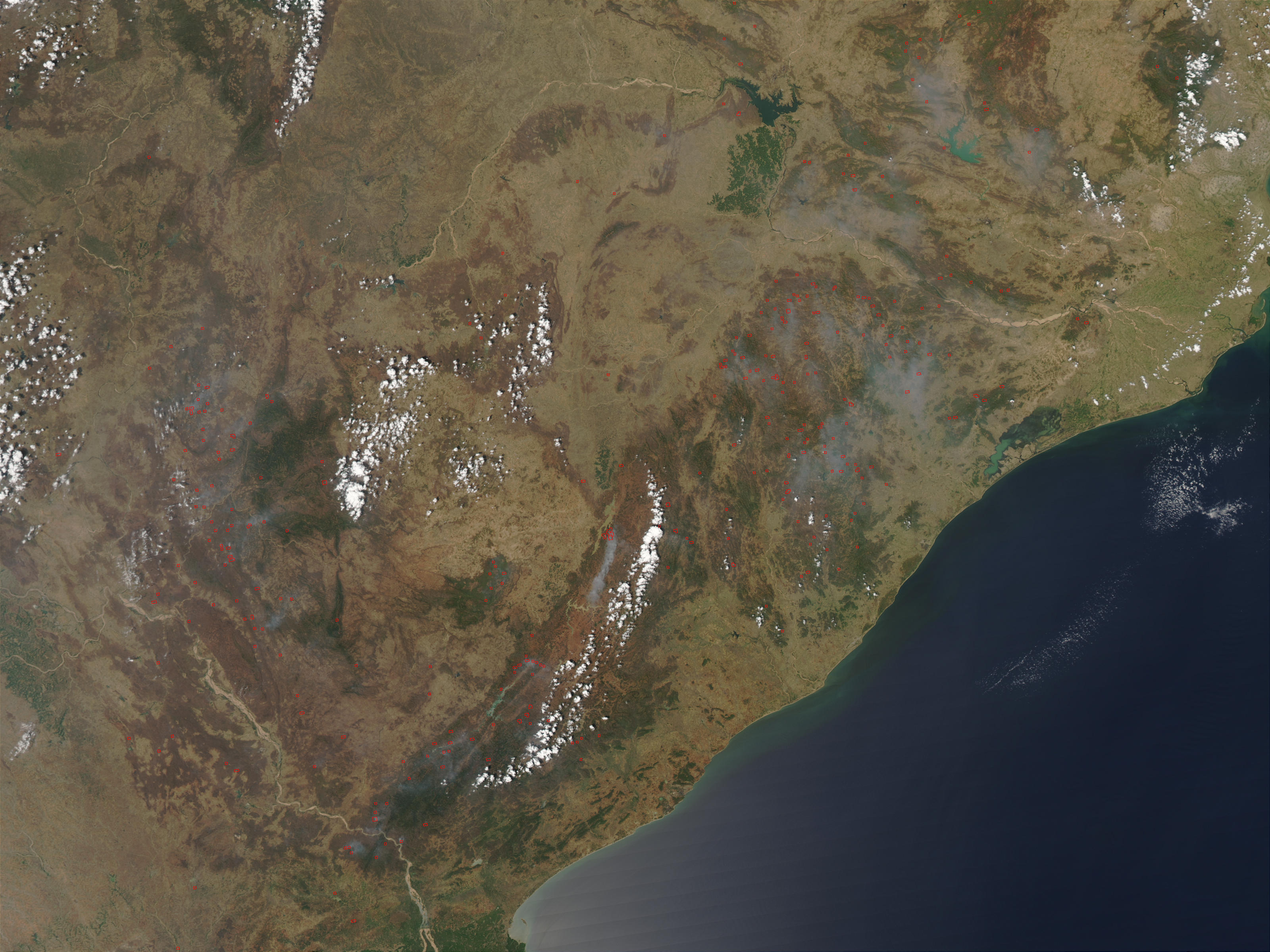 Fires in eastern India