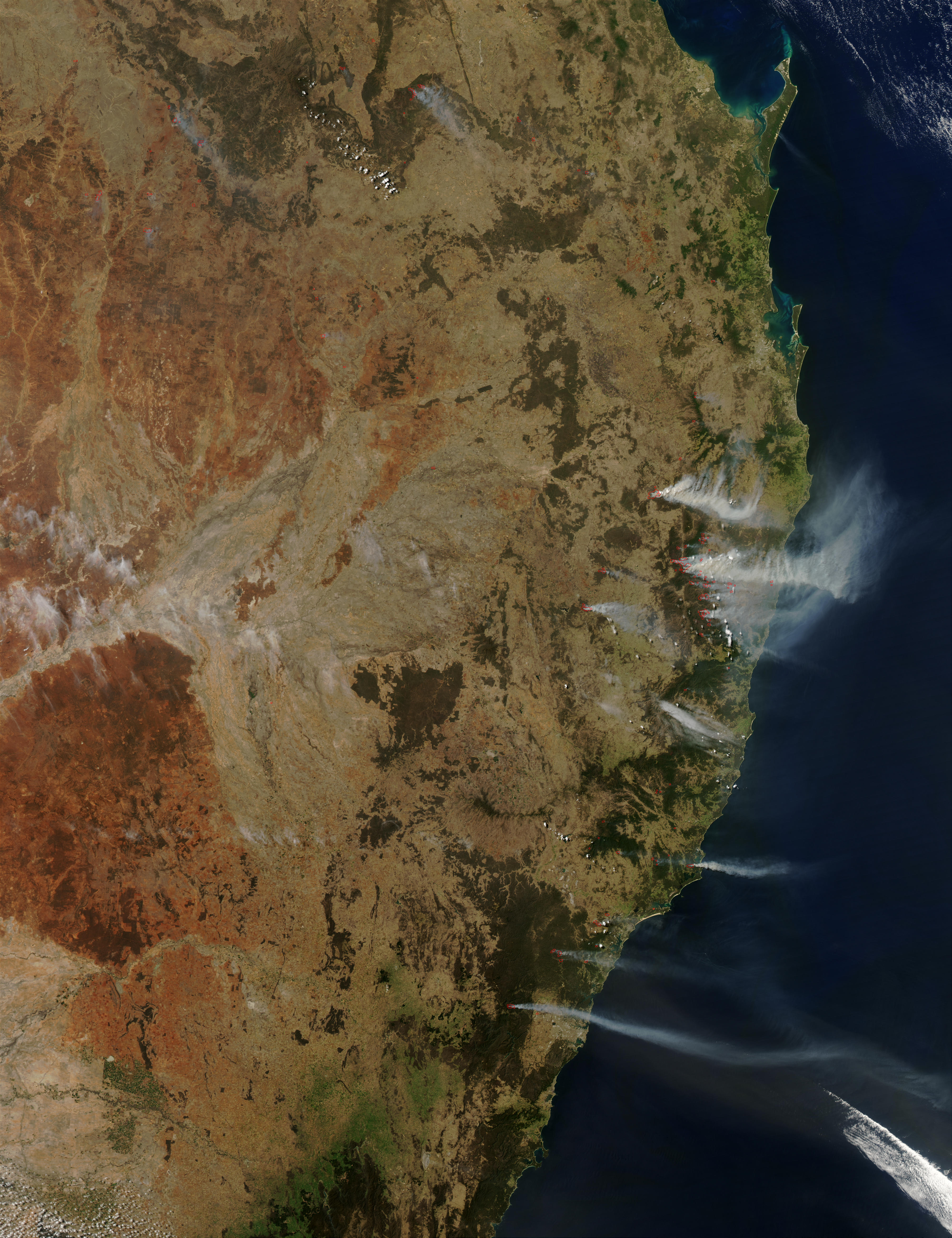 Fires in Queensland and New South Wales, Australia