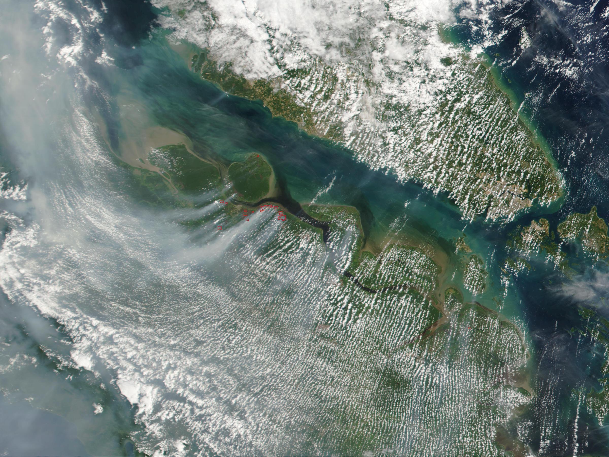 Fires in Sumatra, Indonesia