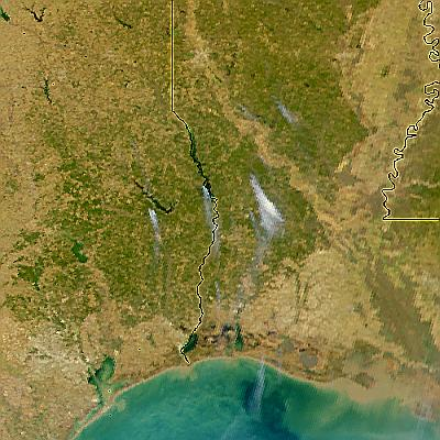 Fires in Texas and Louisiana