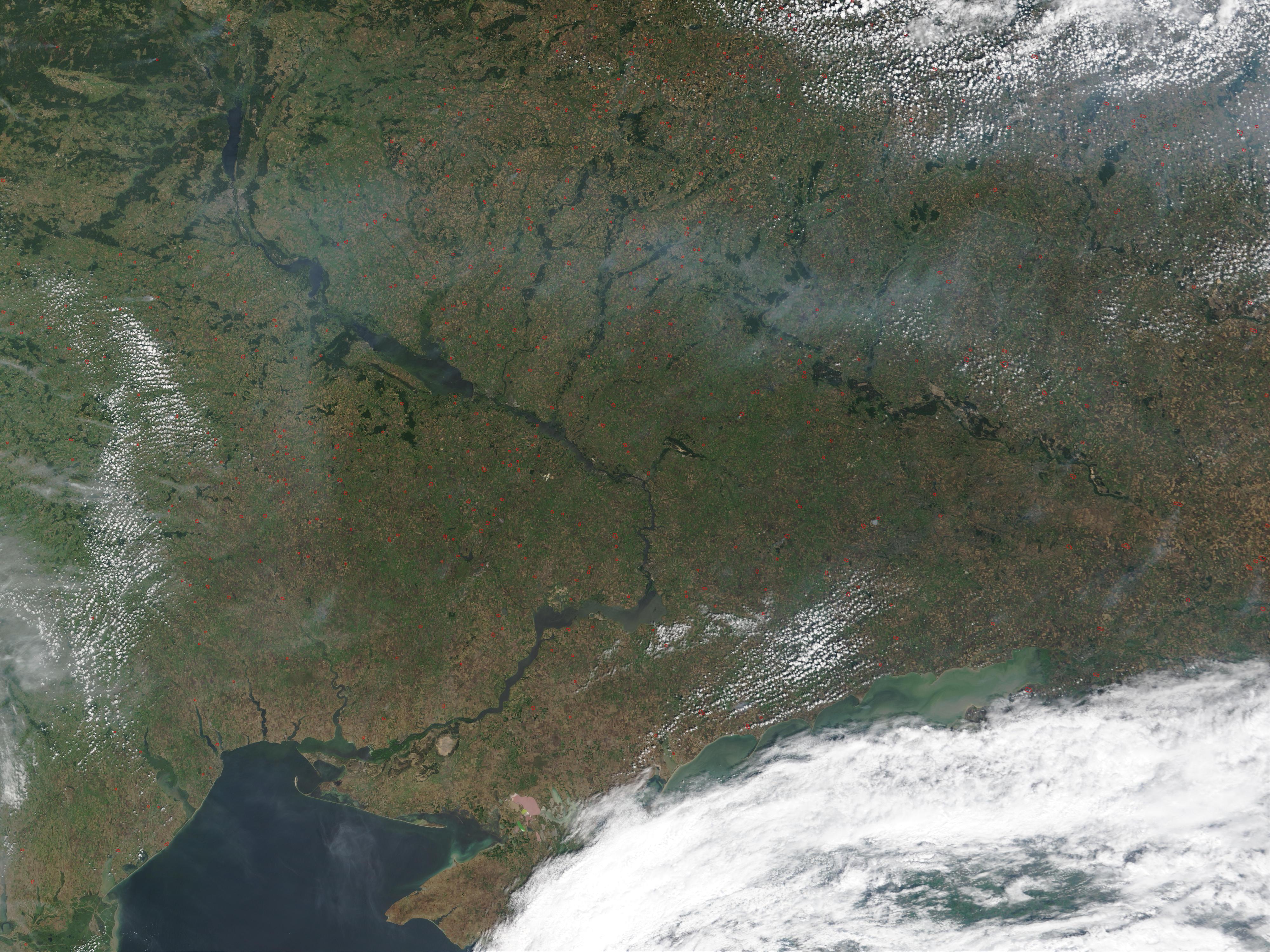 Fires in Ukraine