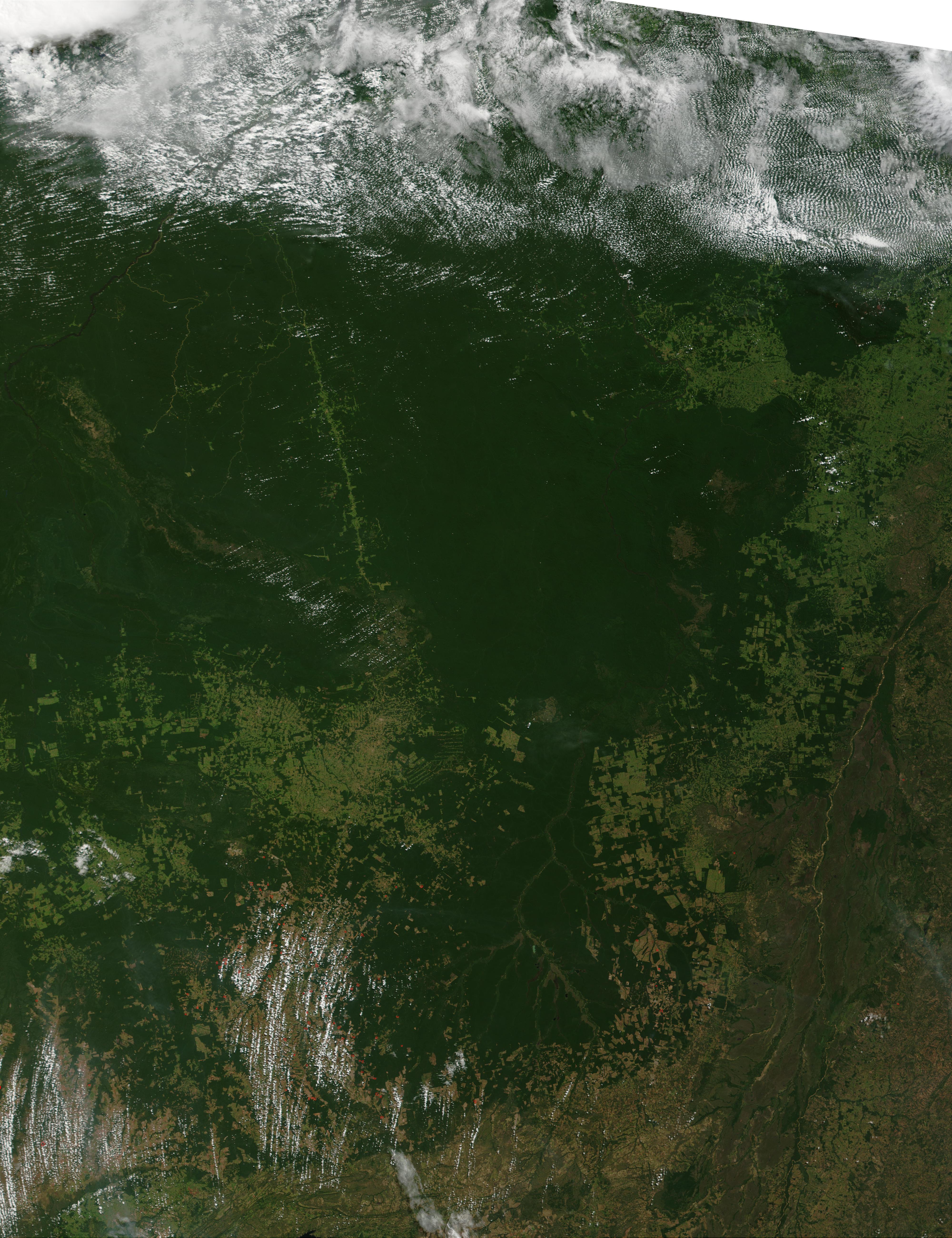 Fires in Mato Grosso State, Brazil