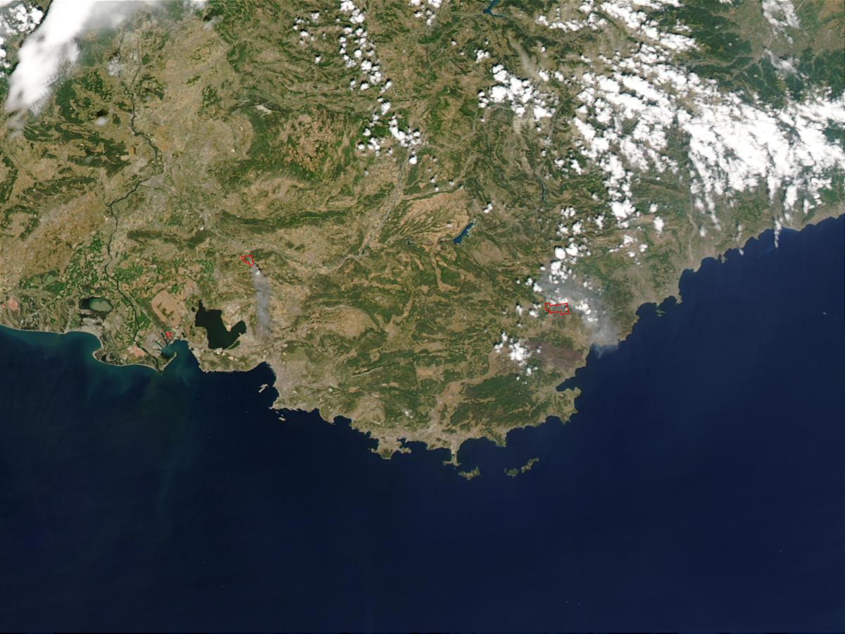 Incendios en el sureste de Francia
