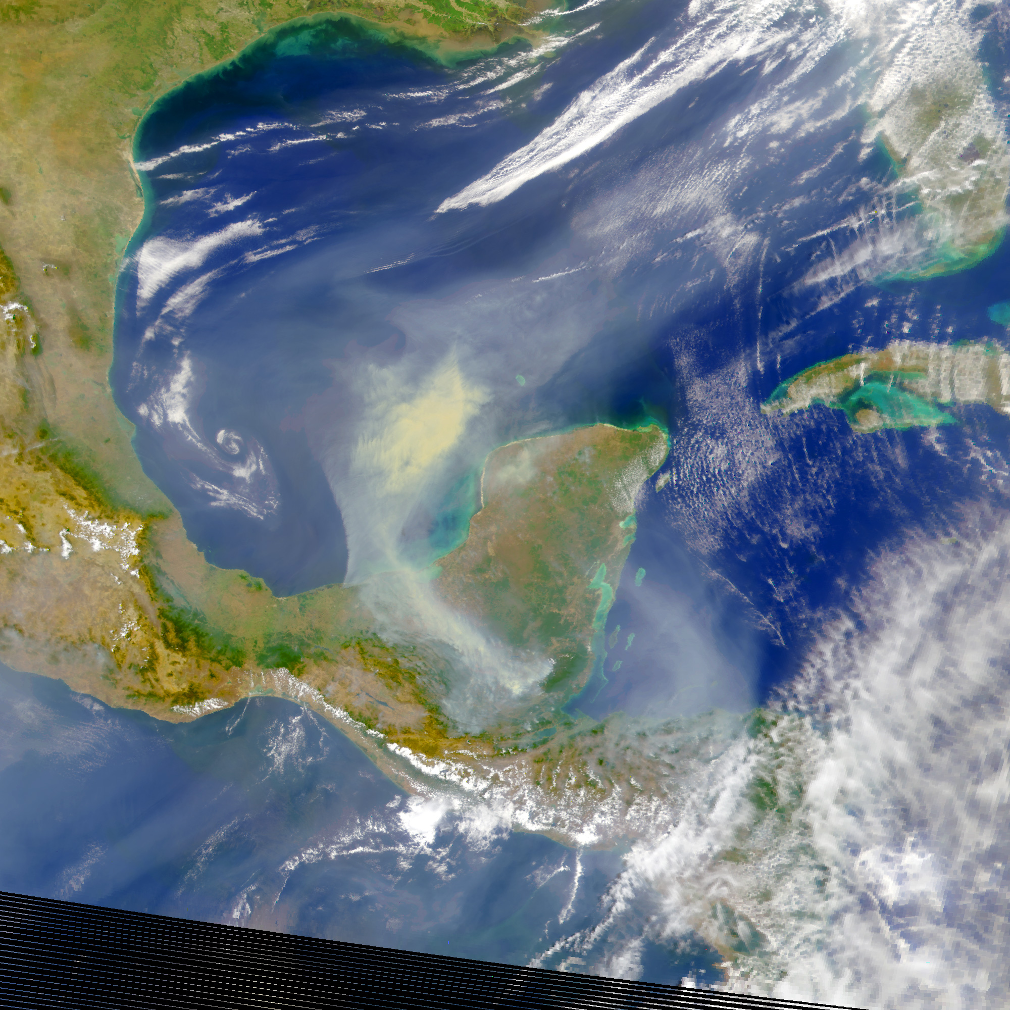 Fires on Yucatan Peninsula