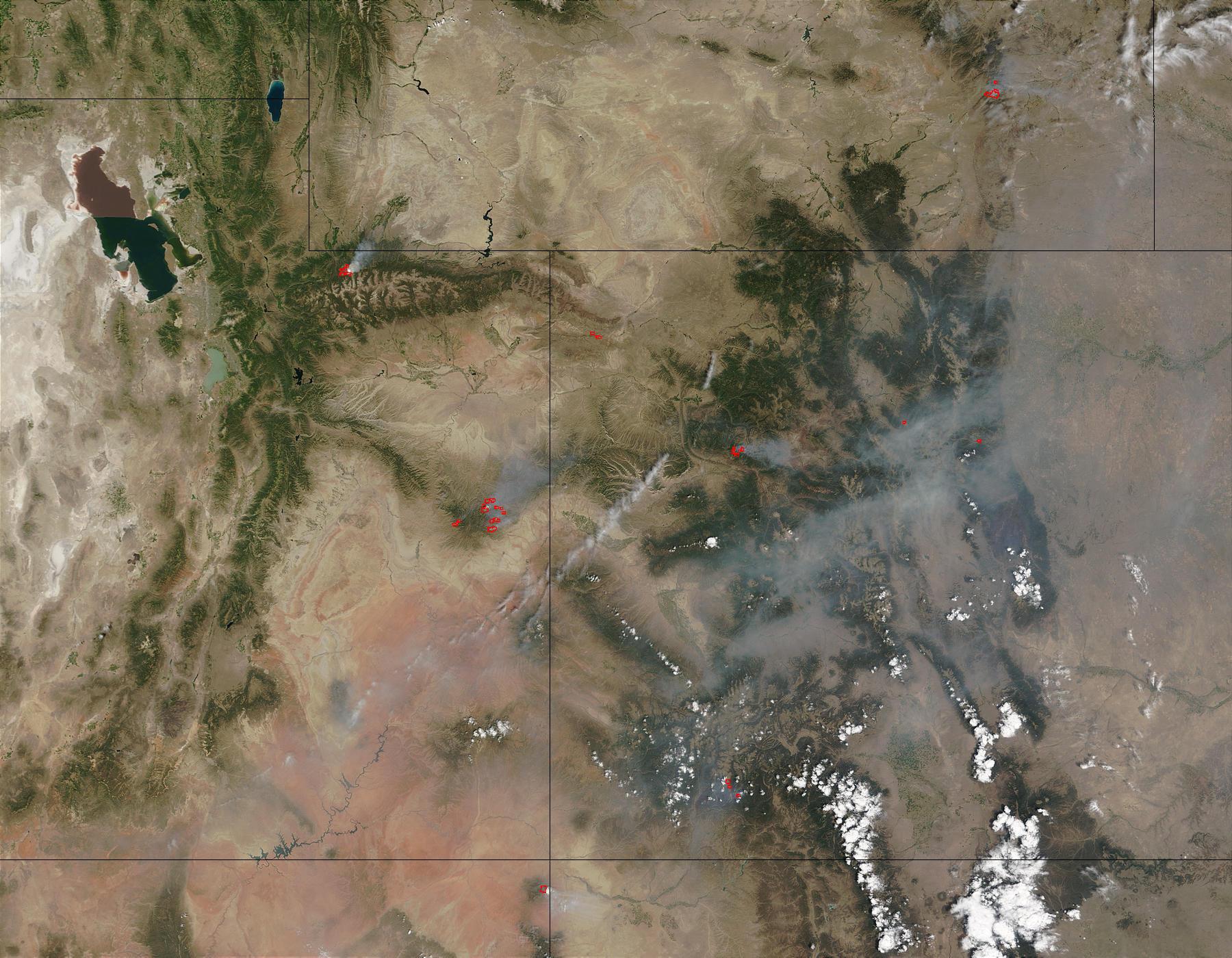 Incendios en las Montañas Rocosas