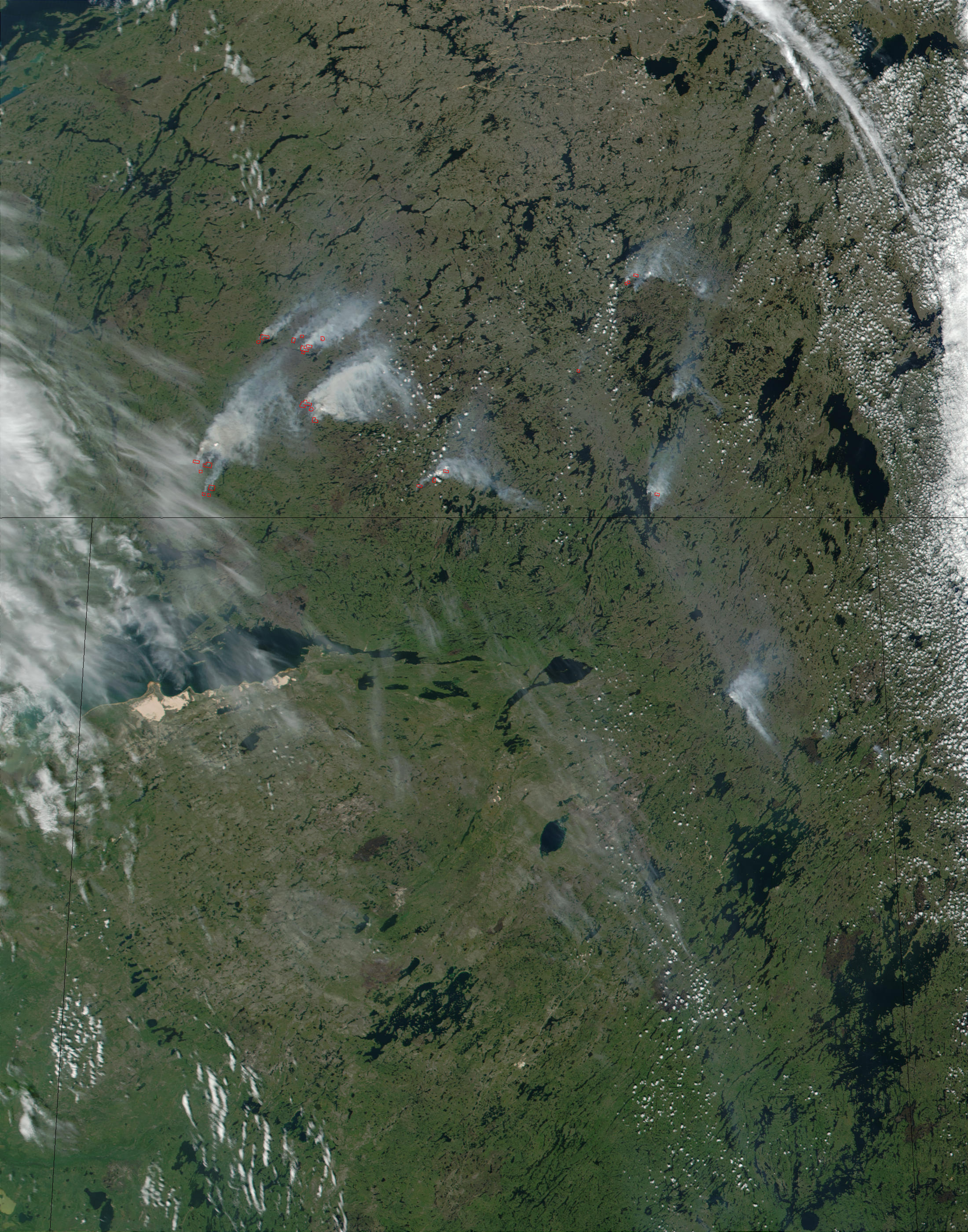 Fires in Northwest Territories, Canada