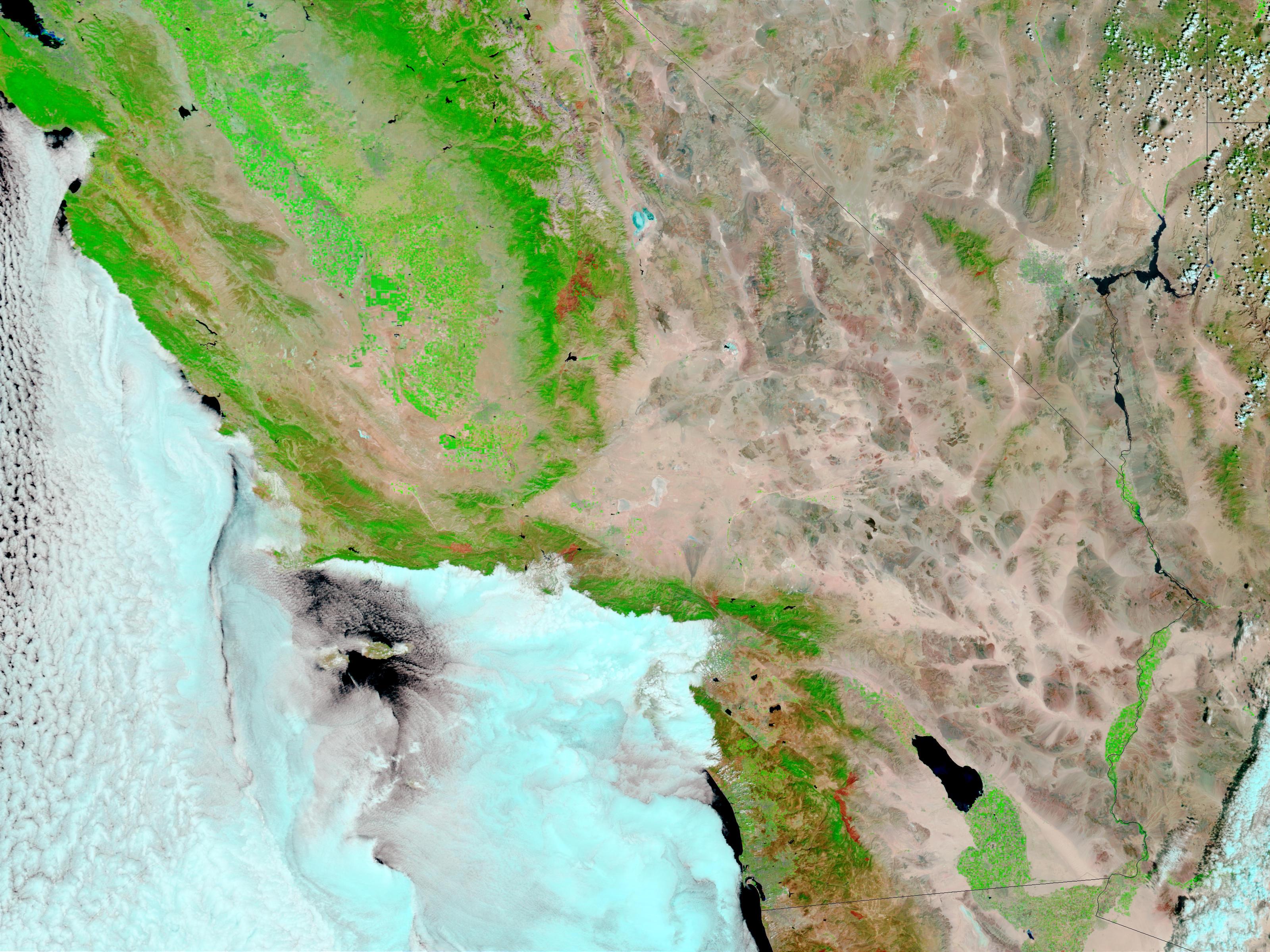 Incendios y cicatrices de los Incendios en California