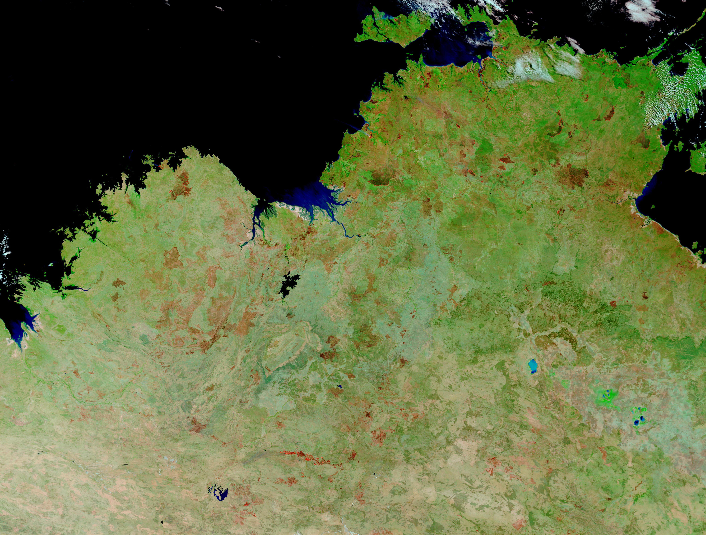 Incendios y cicatrices de los Incendios en el Norte Australia
