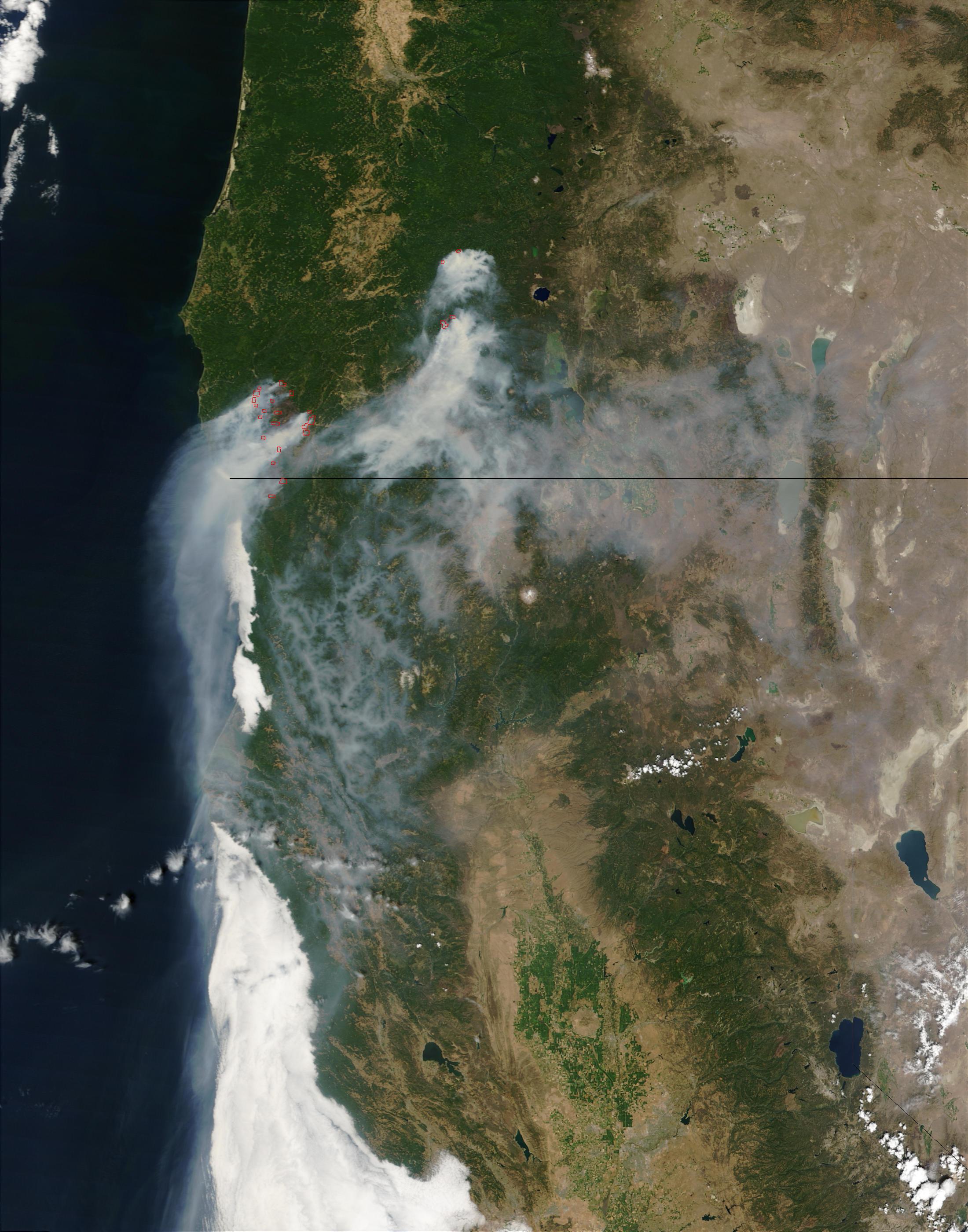Incendios y humo en Oregón