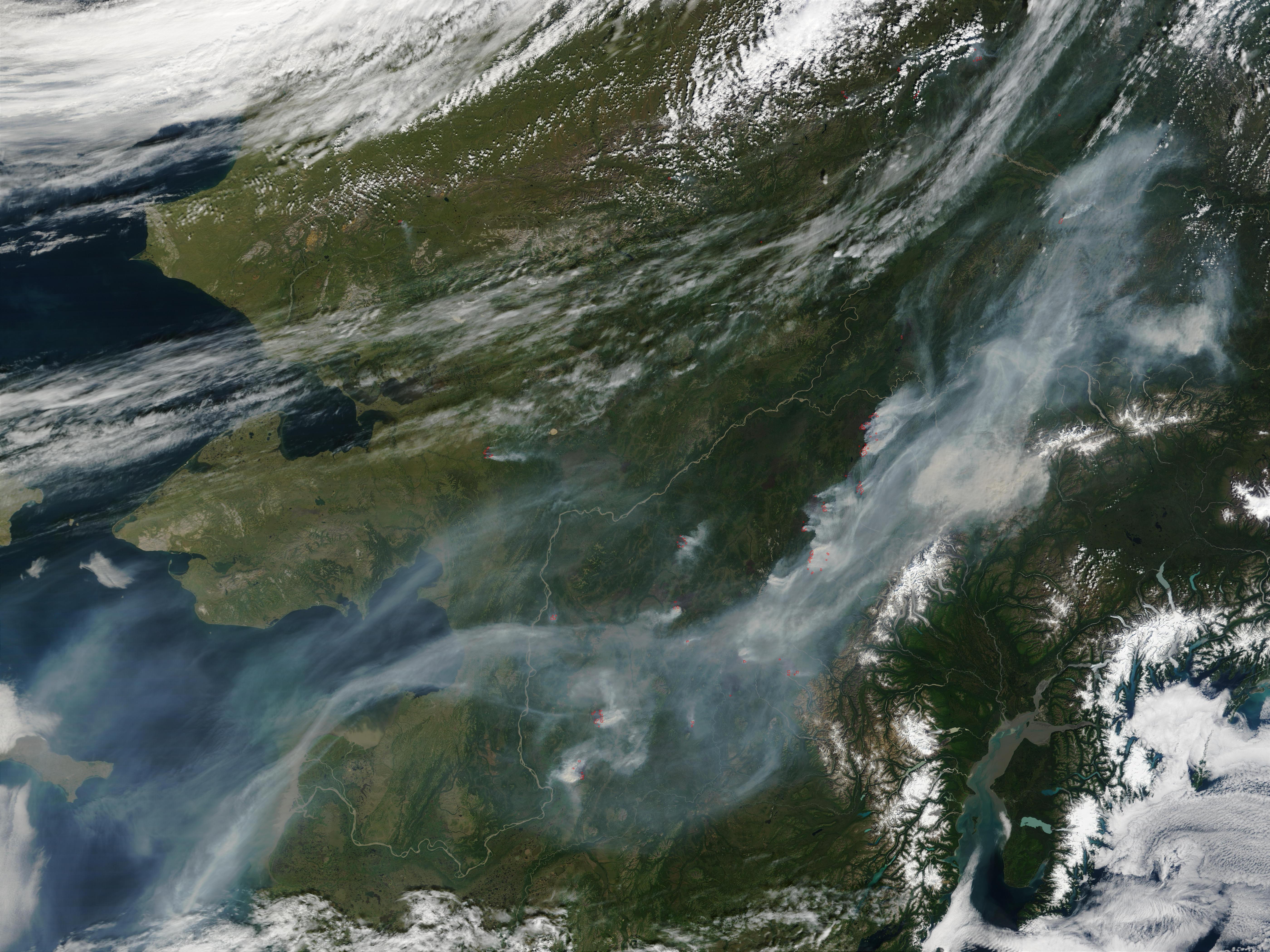 Fires and Heavy Smoke Across Alaska