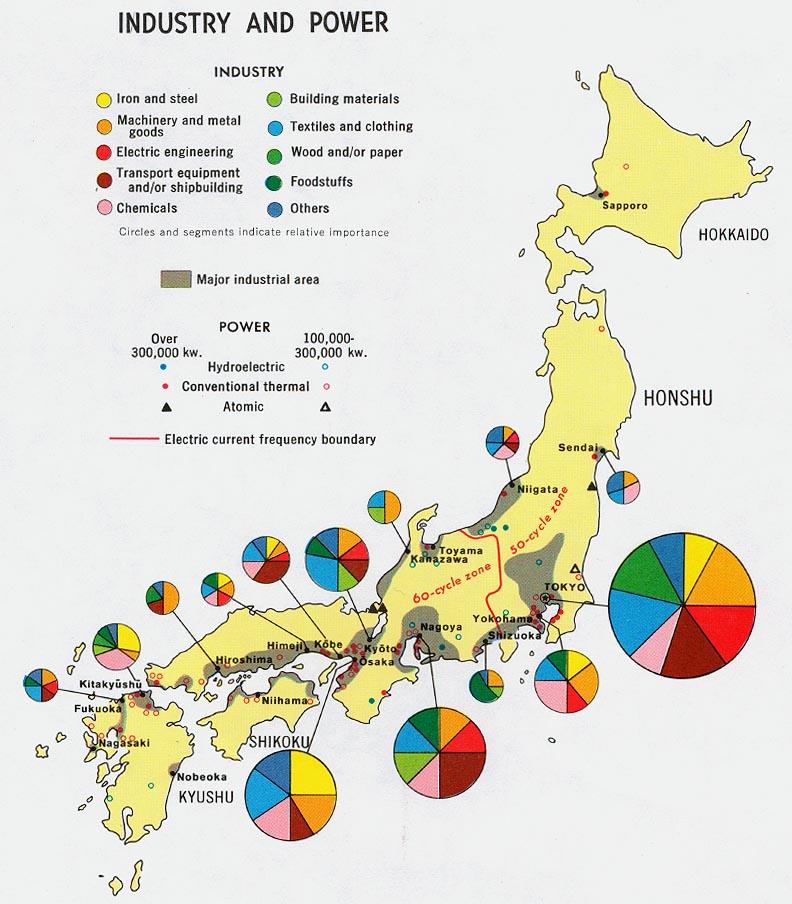 Industria y Energía Eléctrica en Japón 1971