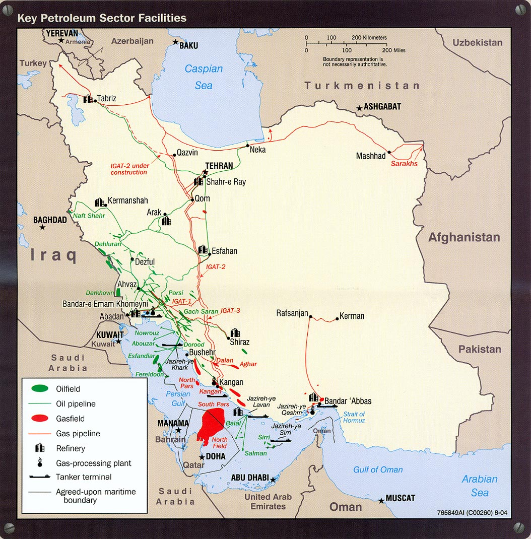 Iran Key Petroleum Sector Facilites 2004