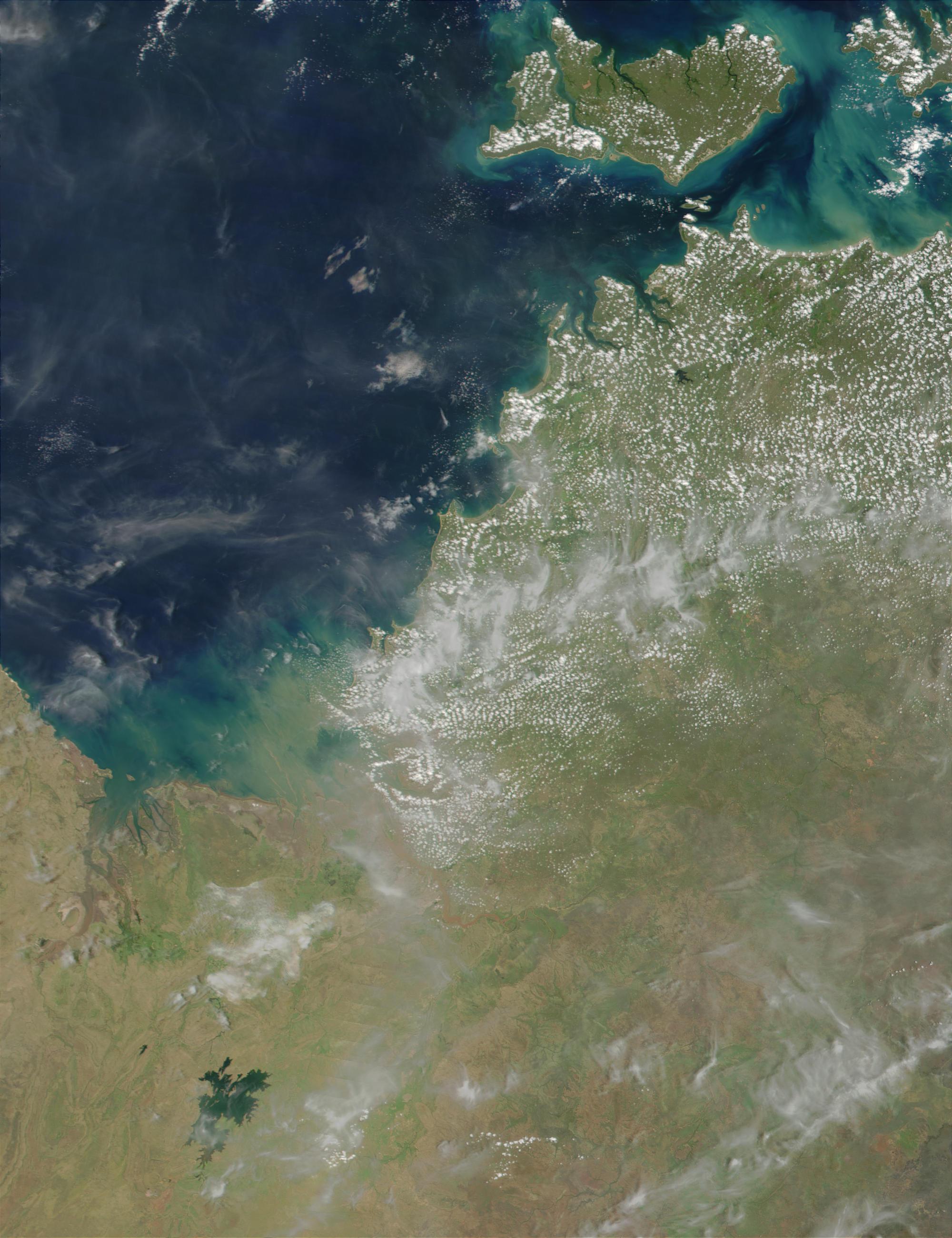 Floods along Australian Northwest coast