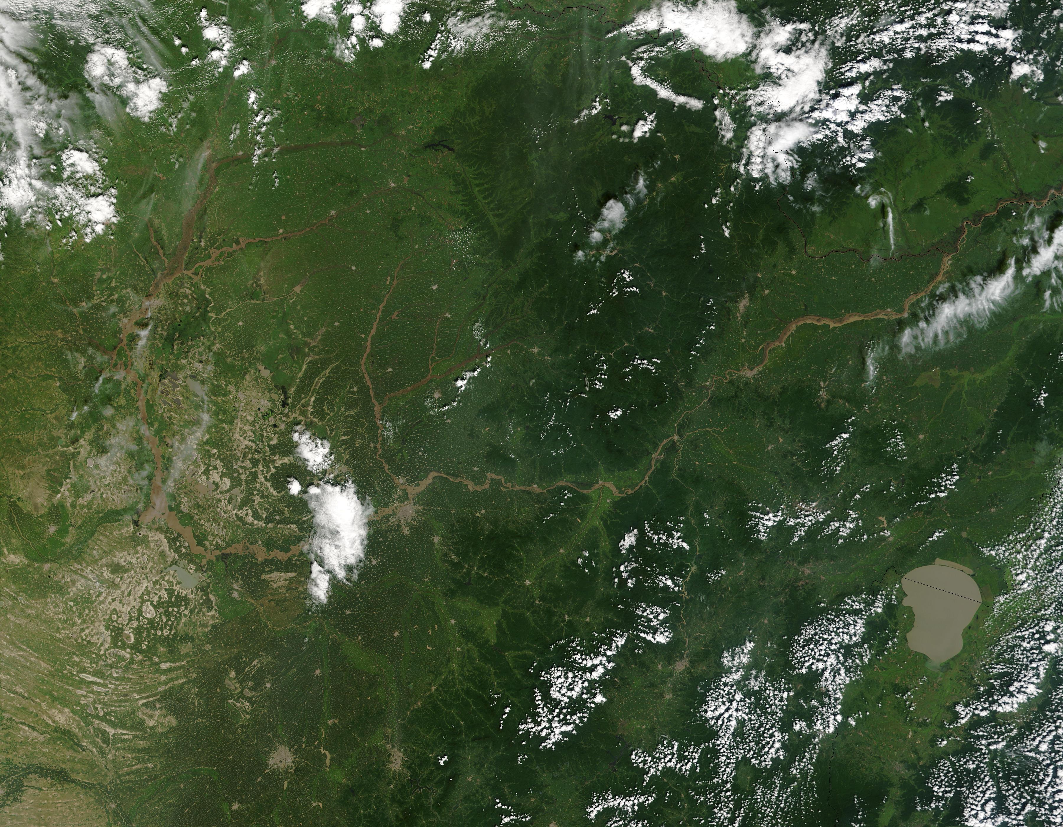 Inundaciones en Manchuria, norte de China