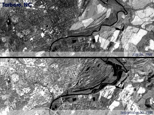 Inundaciones en Tarboro, Carolina del Norte