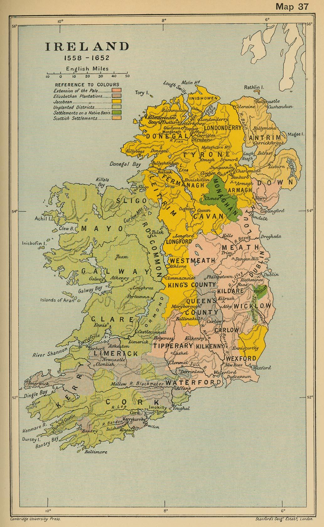 Irlanda 1558-1652