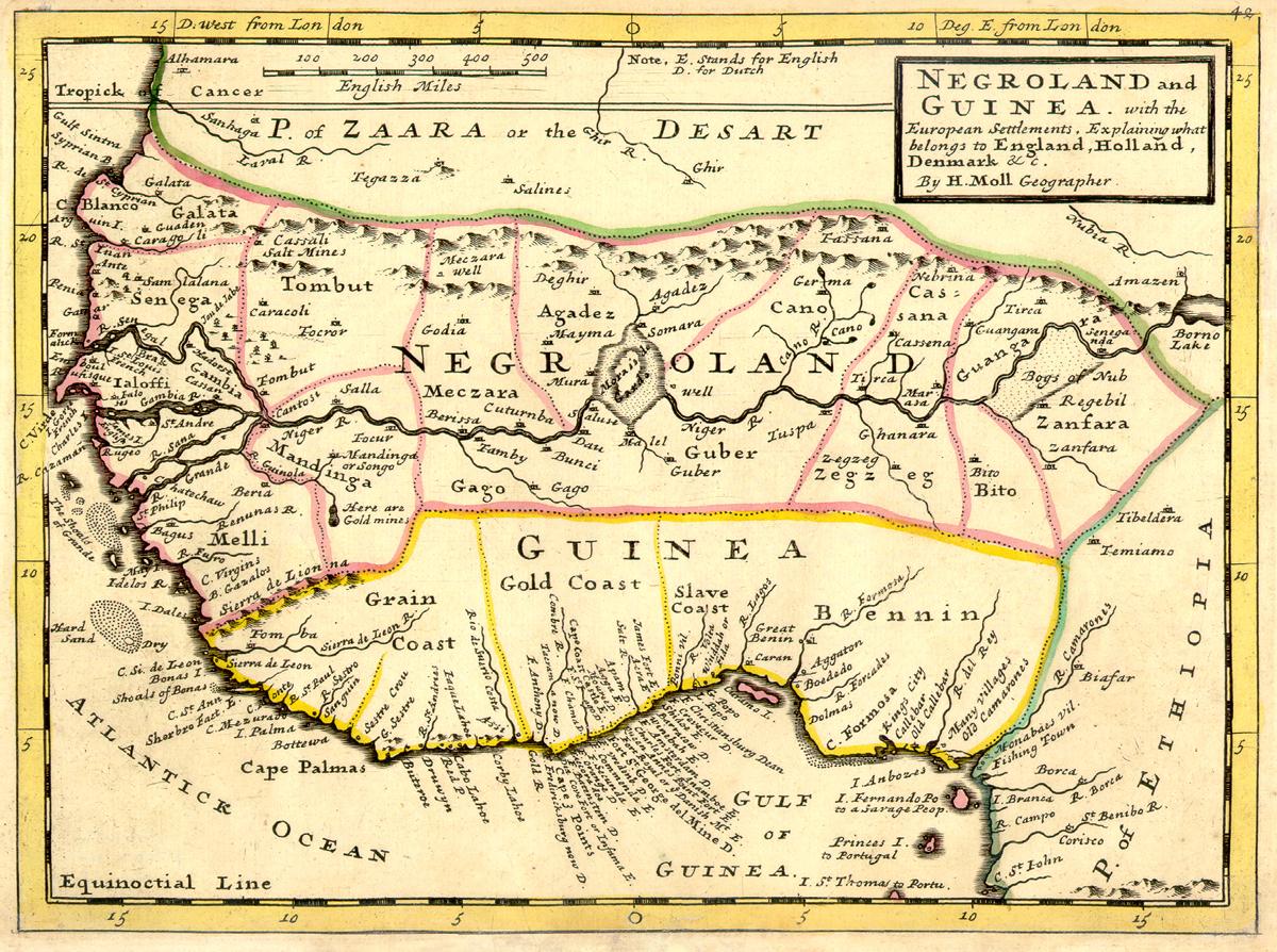 La Costa de los Esclavos 1729