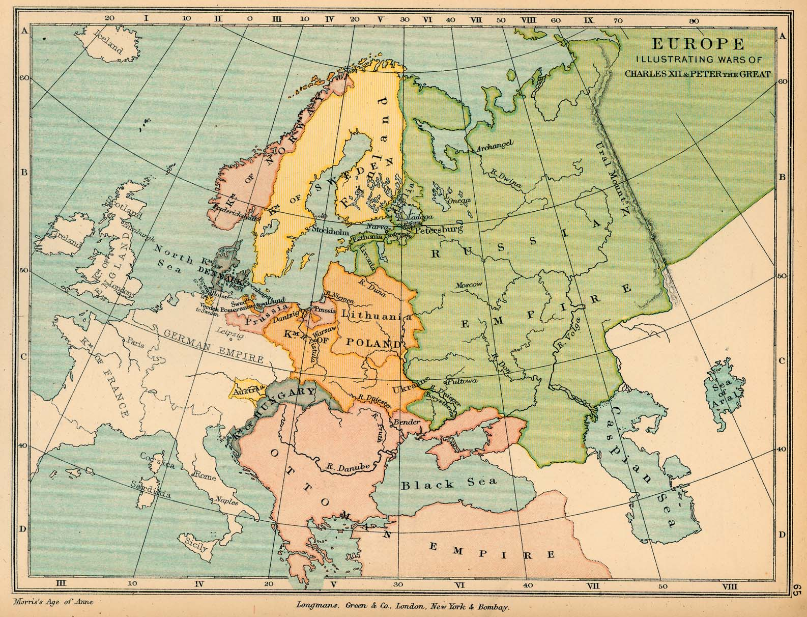 The Great Northern War in Europe 1700-1721