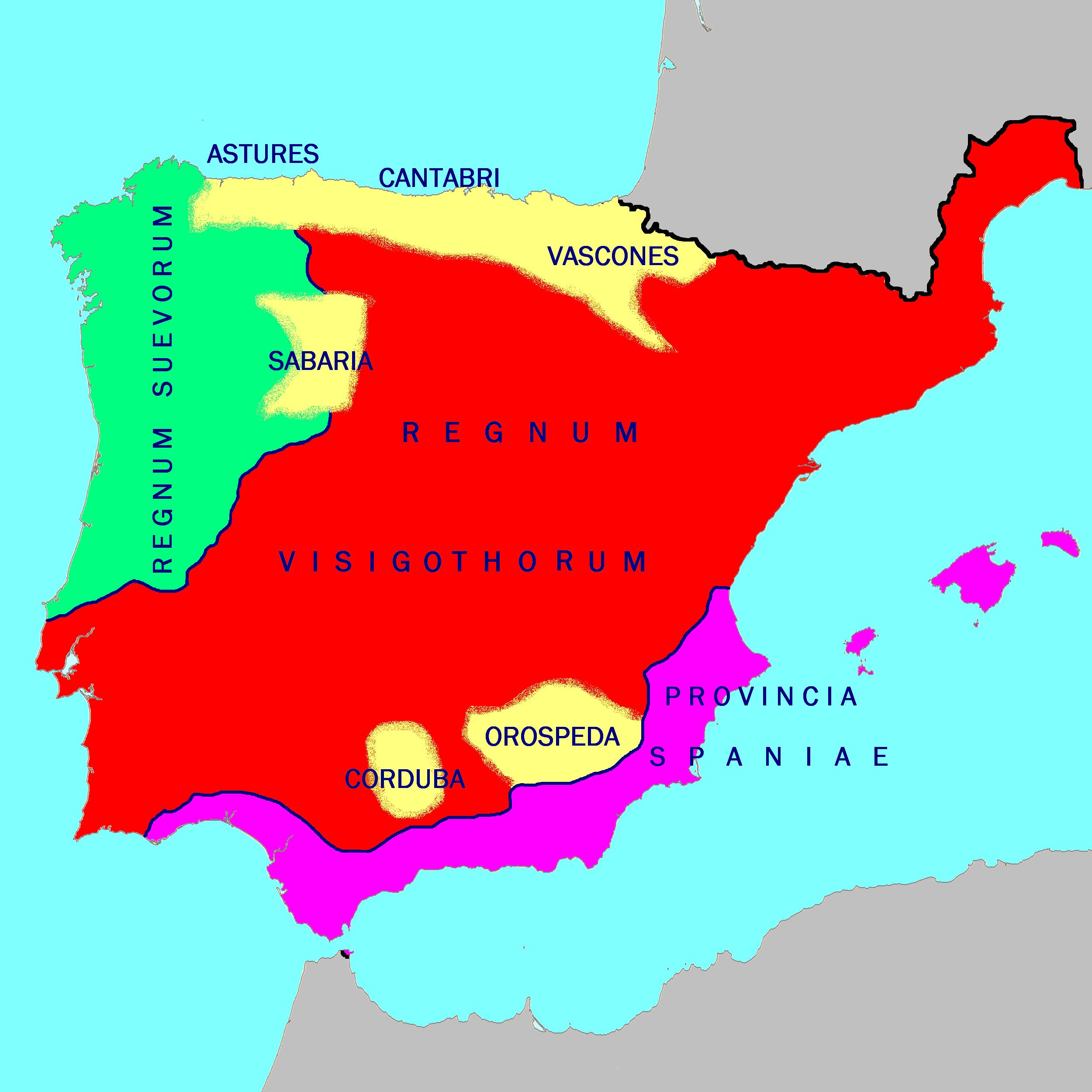 La Península Ibérica en el año 560 dC