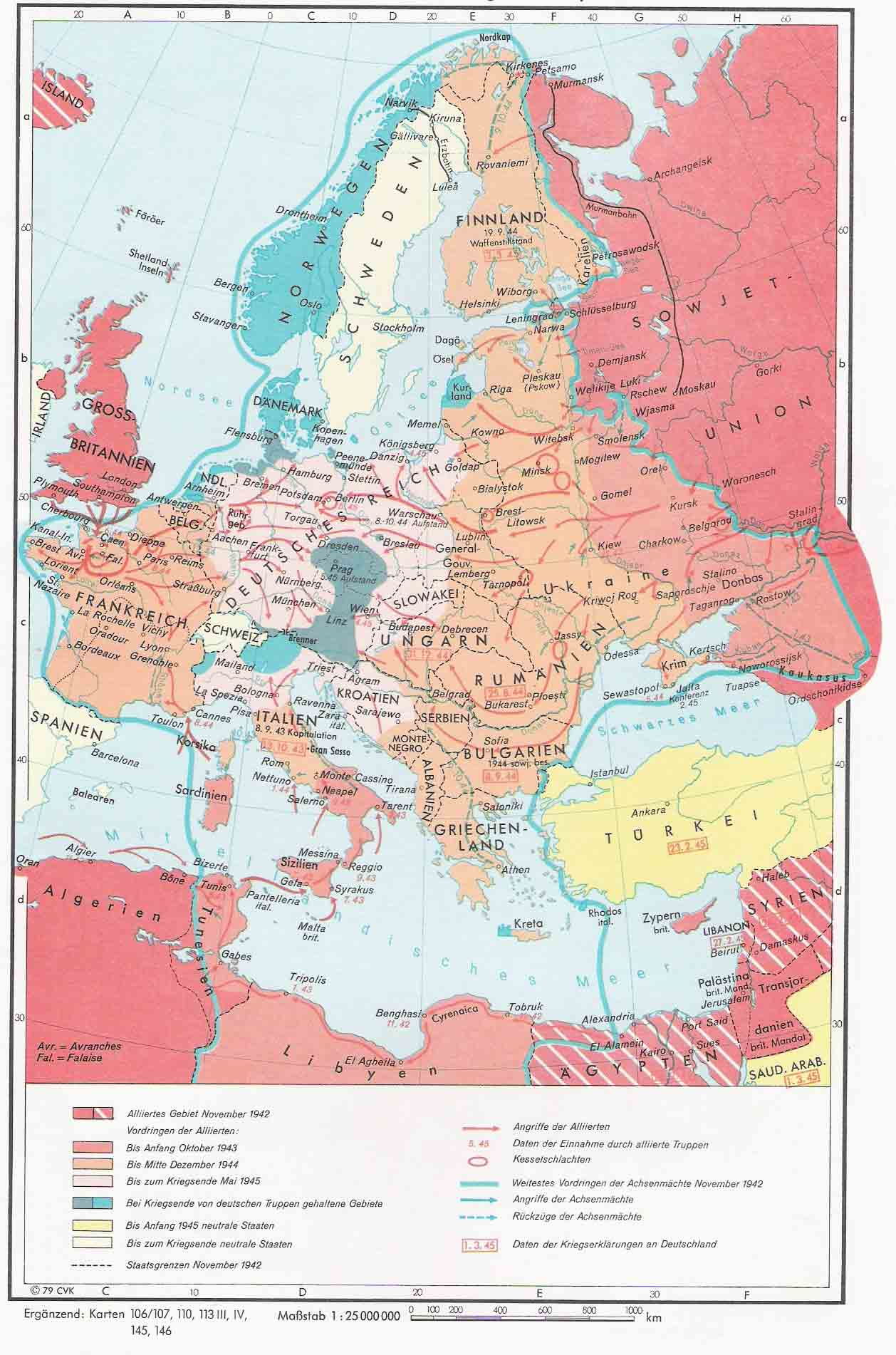 La Segunda Guerra Mundial en Europa 1942-1945