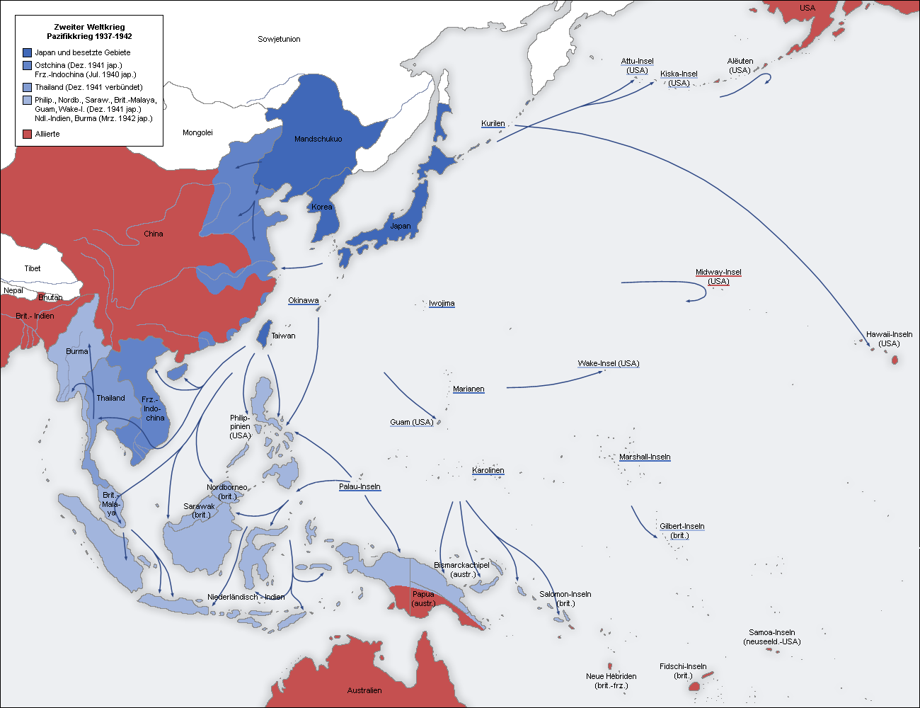 World War II Pacific Theater 1937-1942