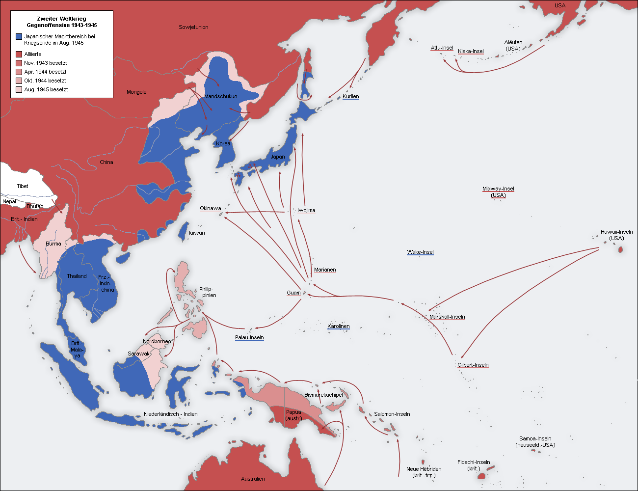 World War II Pacific Theater 1942-1945