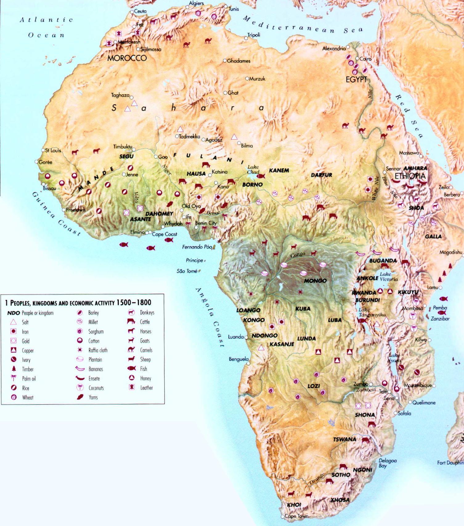 La actividad económica de África 1500-1800